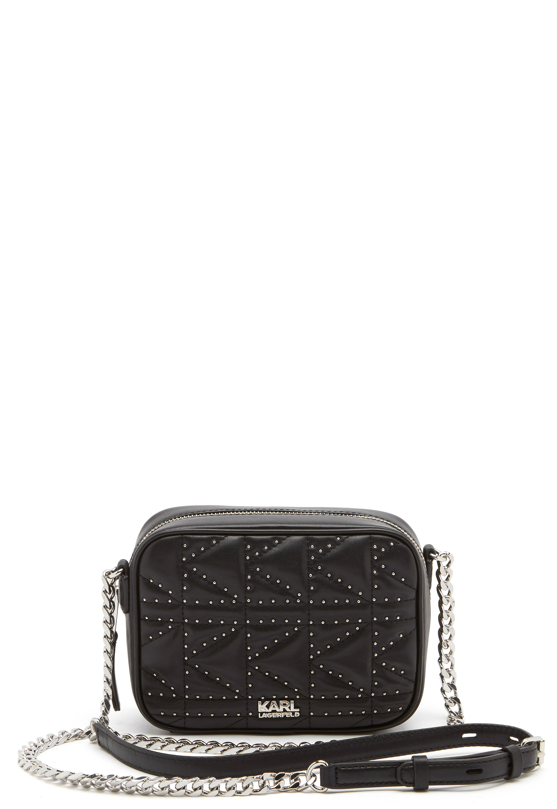 1e34cd7fac Karl Lagerfeld Quilted Stud Camera Bag Black/Nickel - Bubbleroom