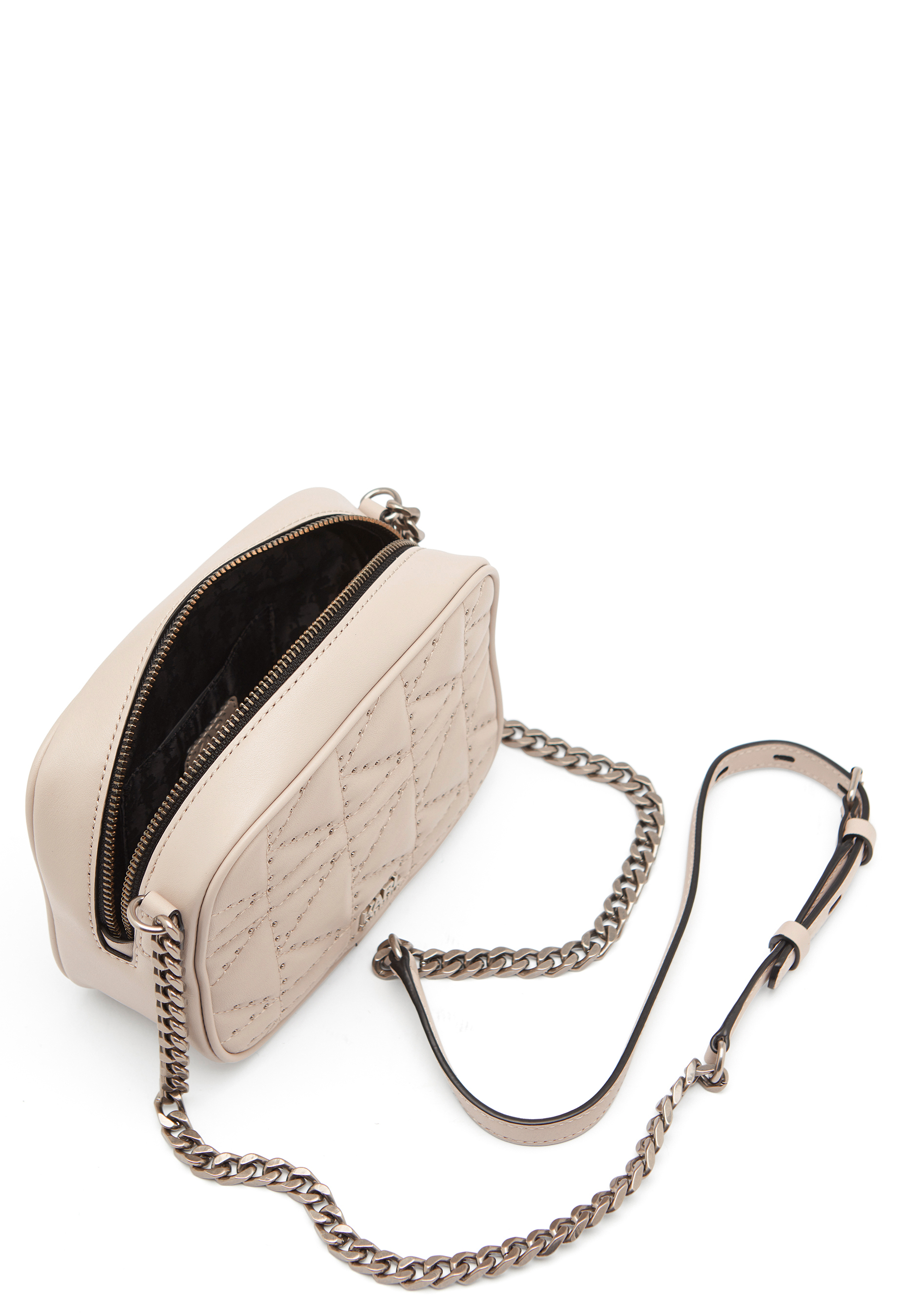 04790c3631 Karl Lagerfeld Quilted Stud Camera Bag Taupe - Bubbleroom