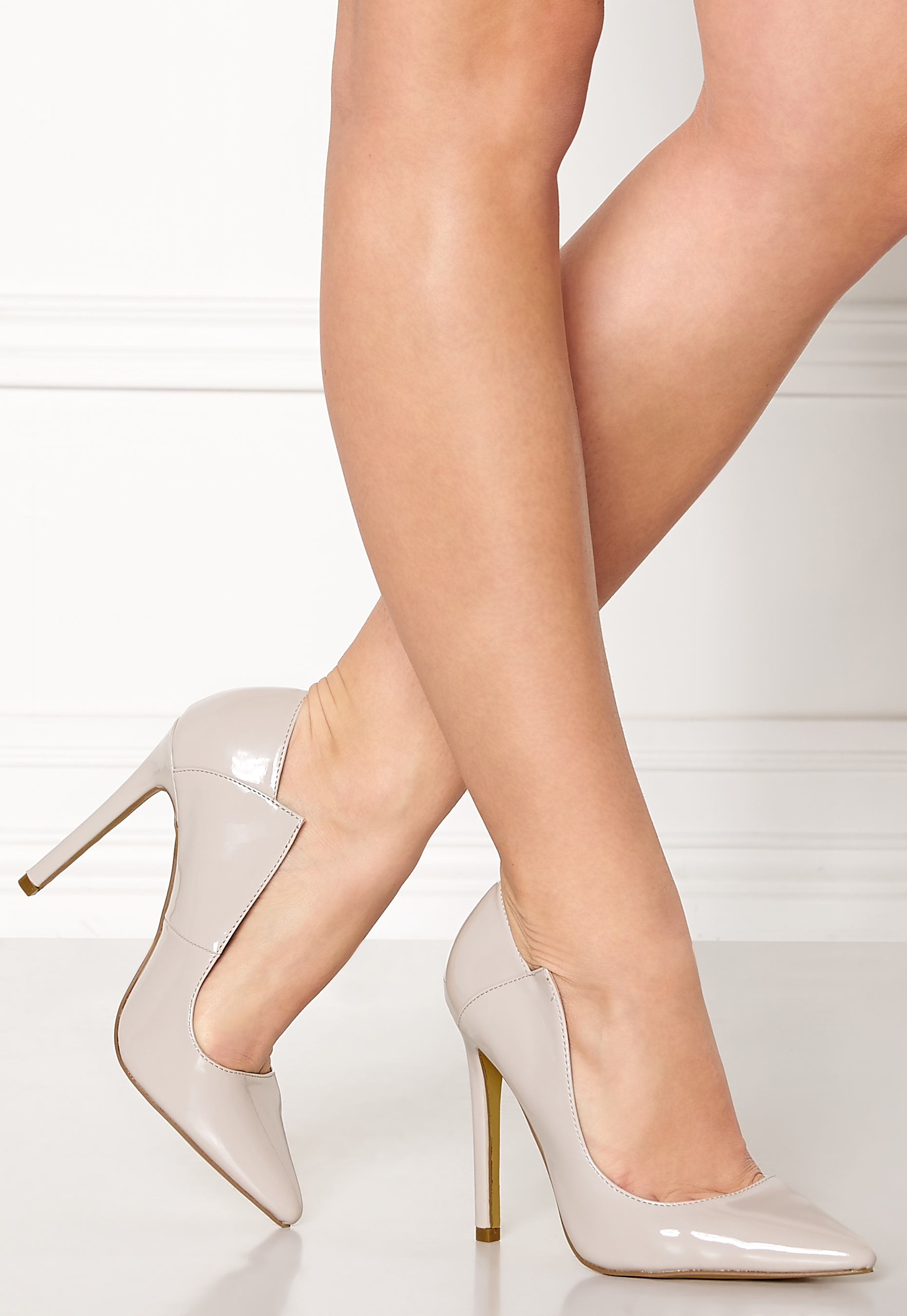 Lost Ink PARIS ANGLED CUT COURT - High heels - light grey QFutHLhjgD