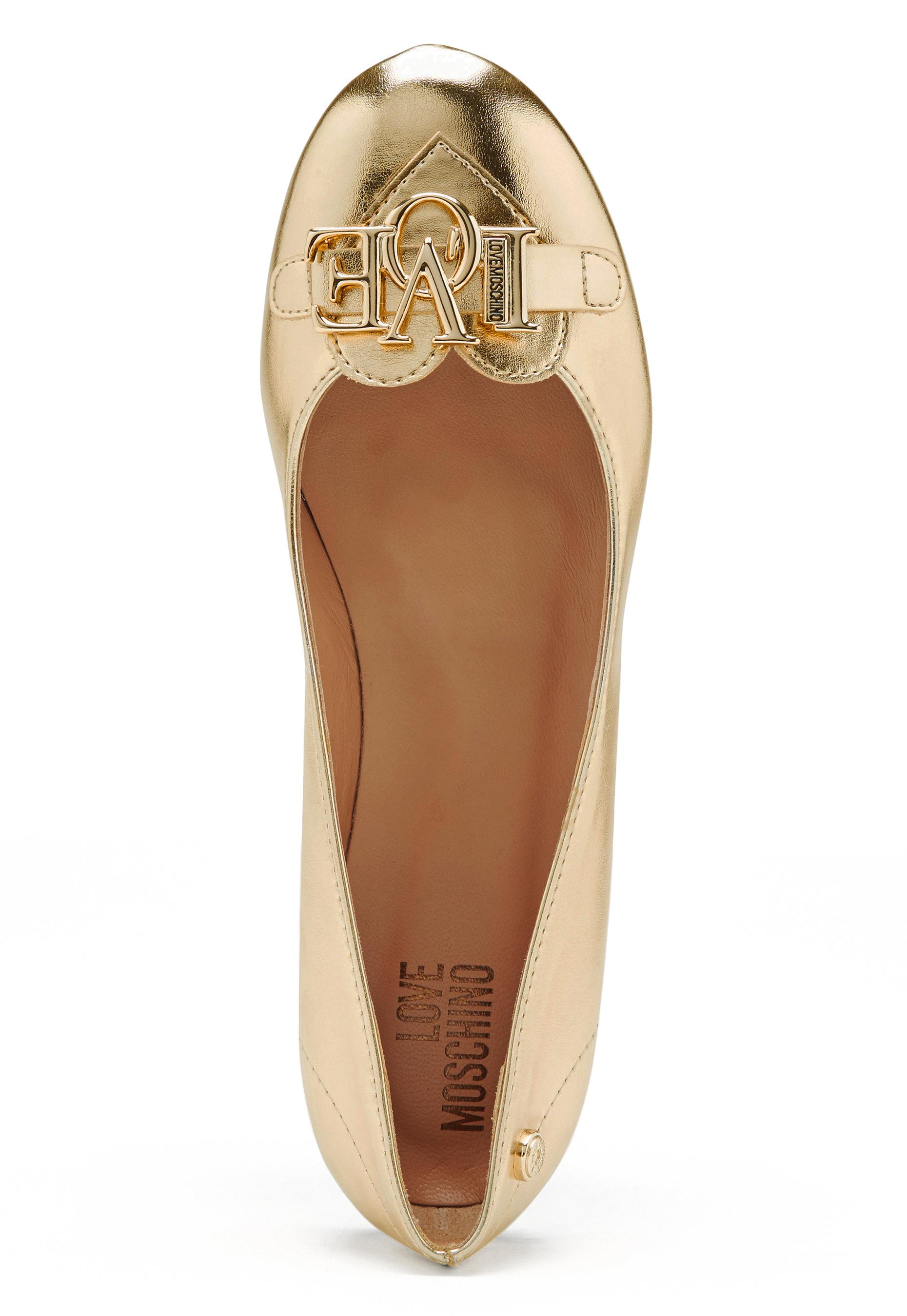 high fashion united states new york Love Moschino Ballerina Shoes 900 Platinum - Bubbleroom