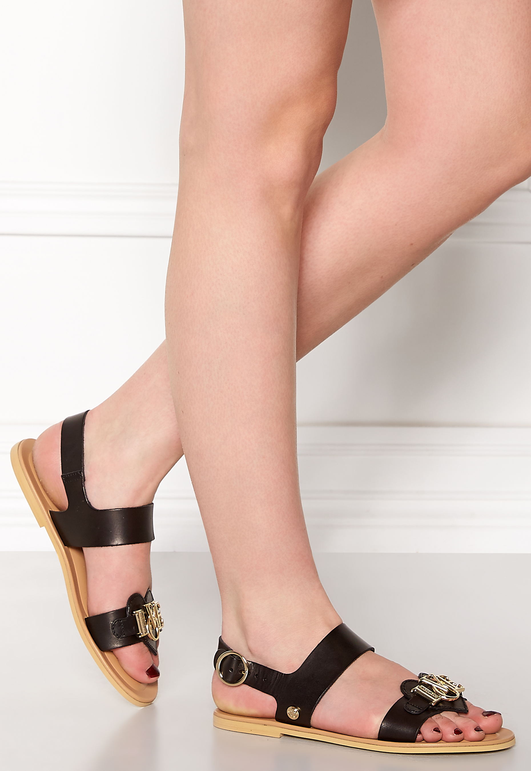 6d5a780cb463 Love Moschino Sandals 000 Black - Bubbleroom