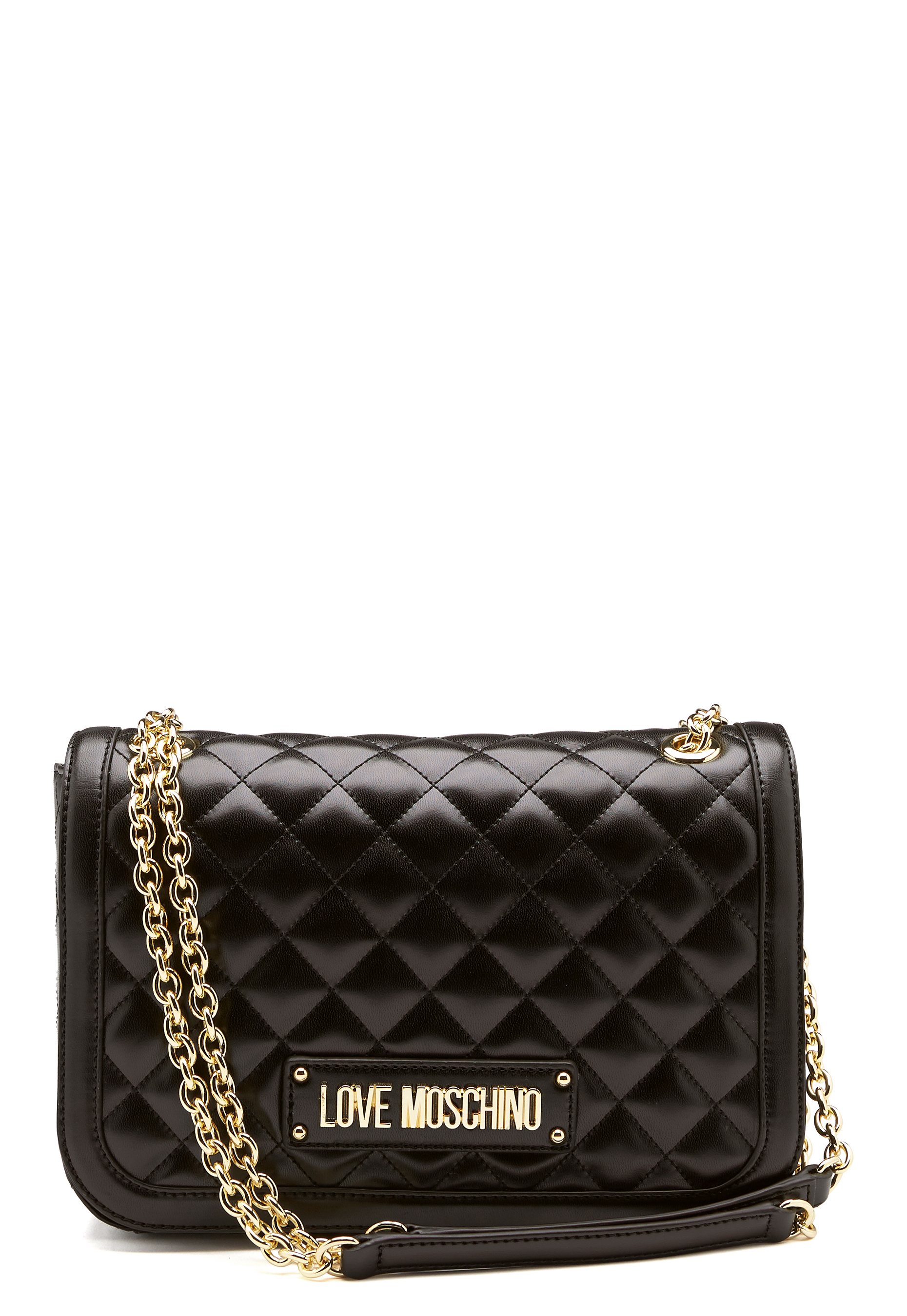 Love Moschino Shiny Quilted Bag Black