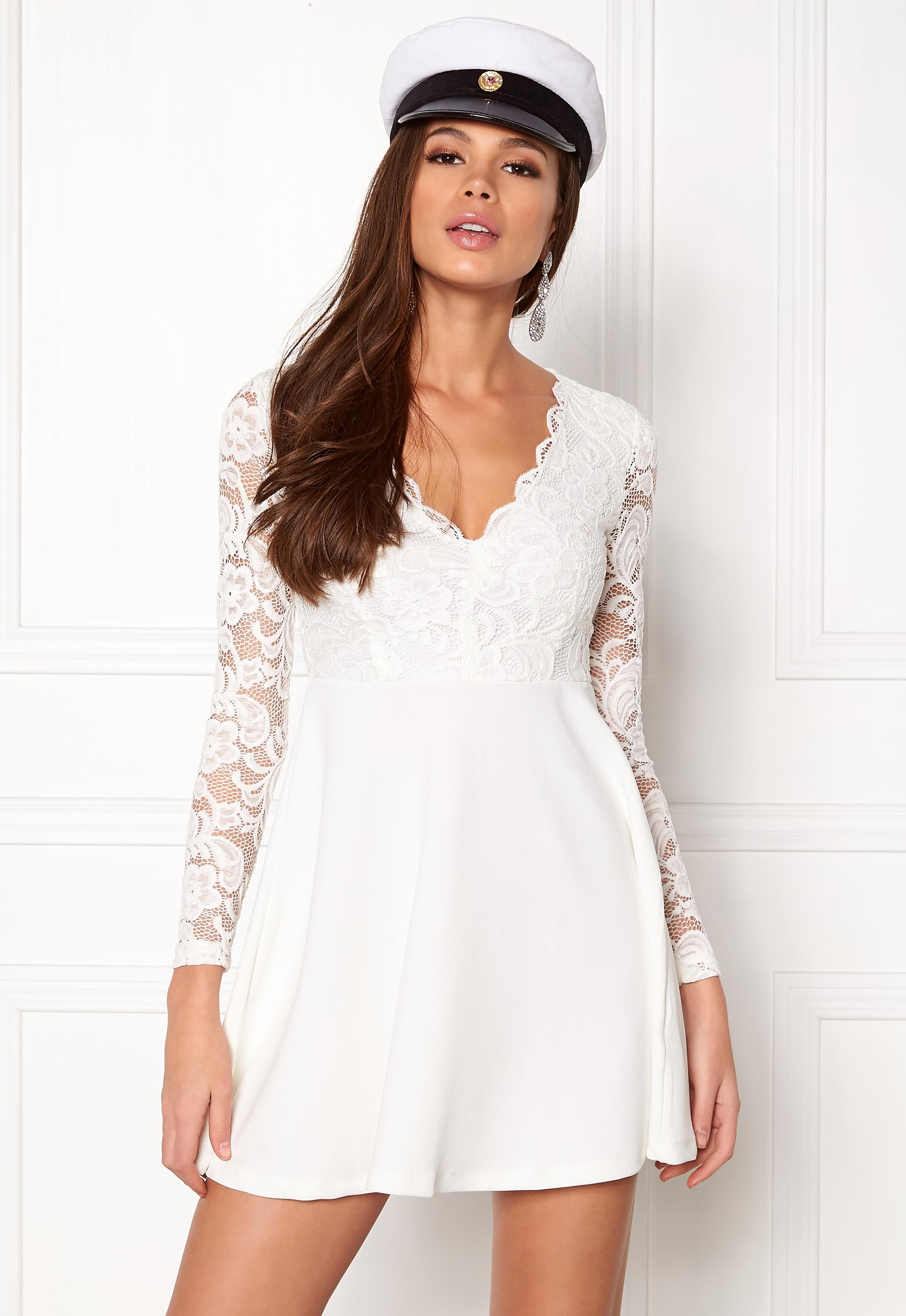 Make Way Shelby Dress White - Bubbleroom