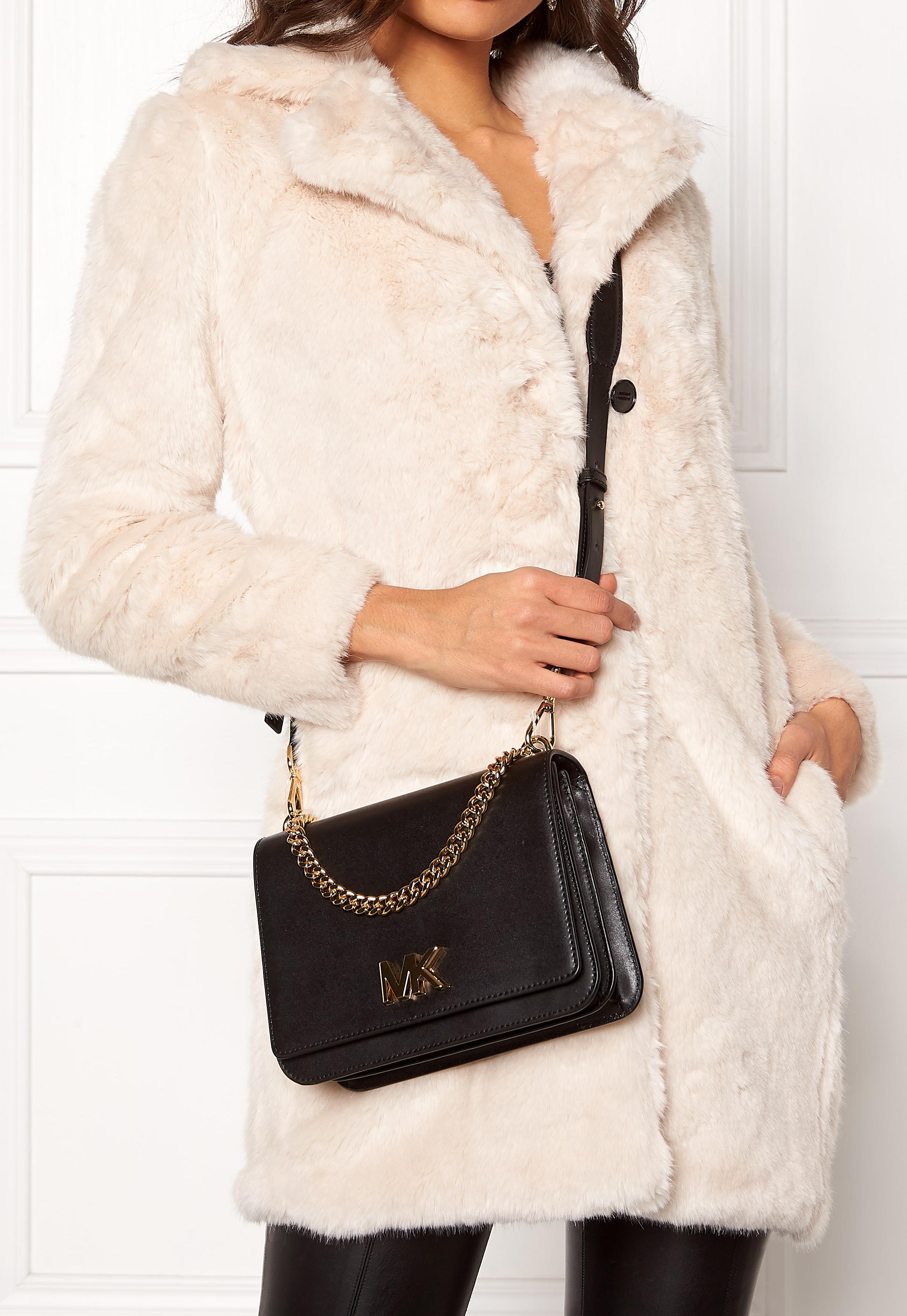 066a8be3eb41 Michael Michael Kors Mott Chain Shoulder Bag Black - Bubbleroom