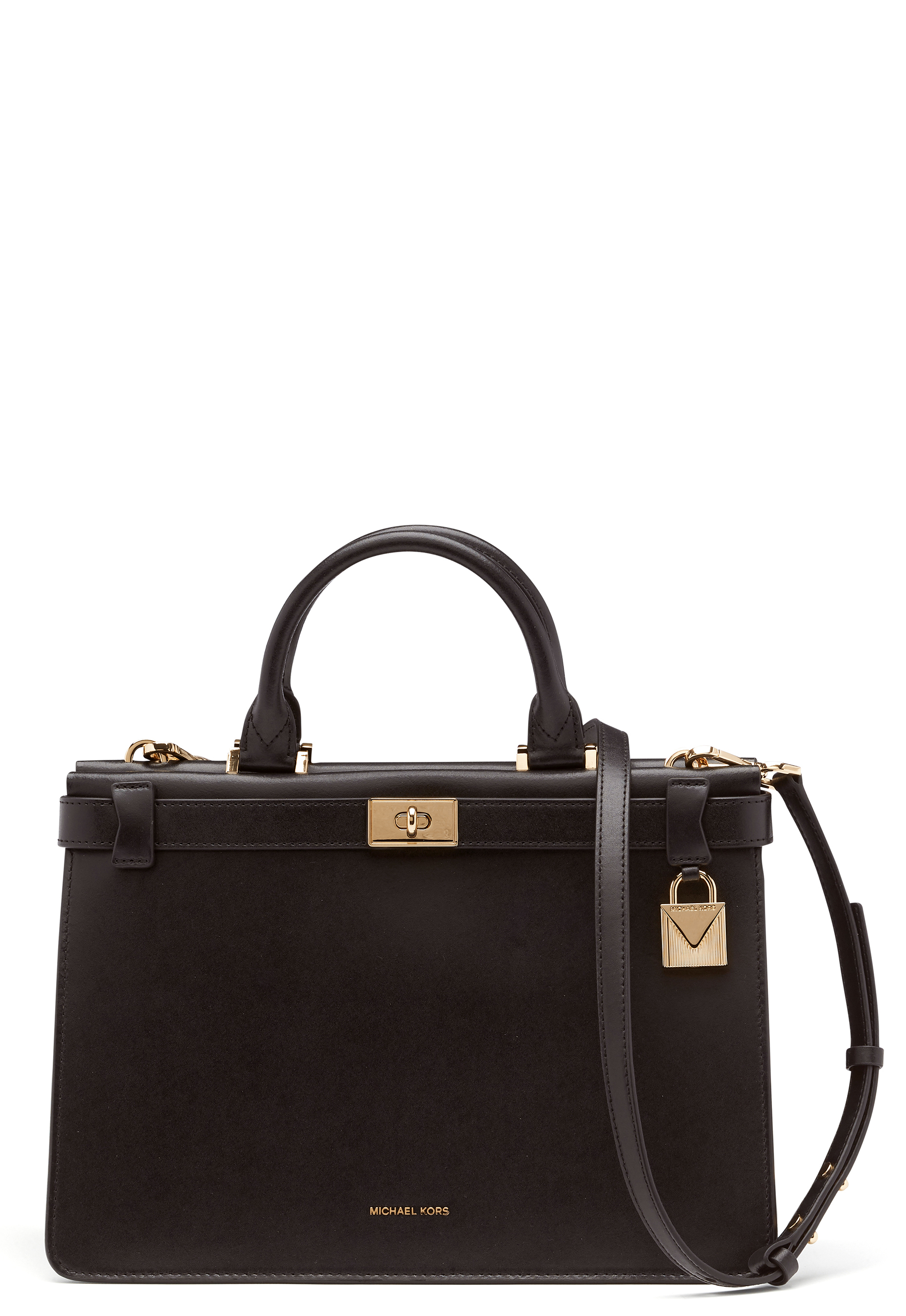93762a13b449 Michael Michael Kors Tatiana Medium Tote Black - Bubbleroom