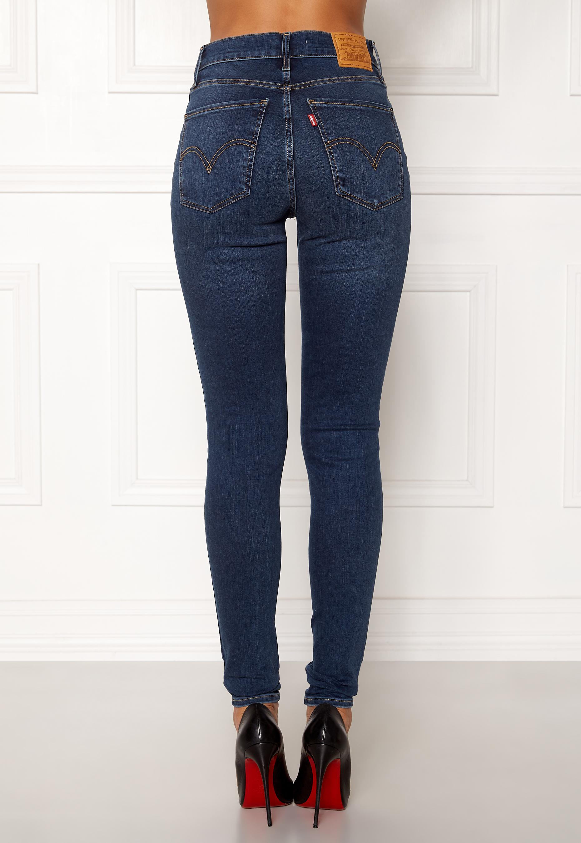 daf7acbd LEVI'S Milehigh Superskinny Jeans Breakthrough Blue - Bubbleroom