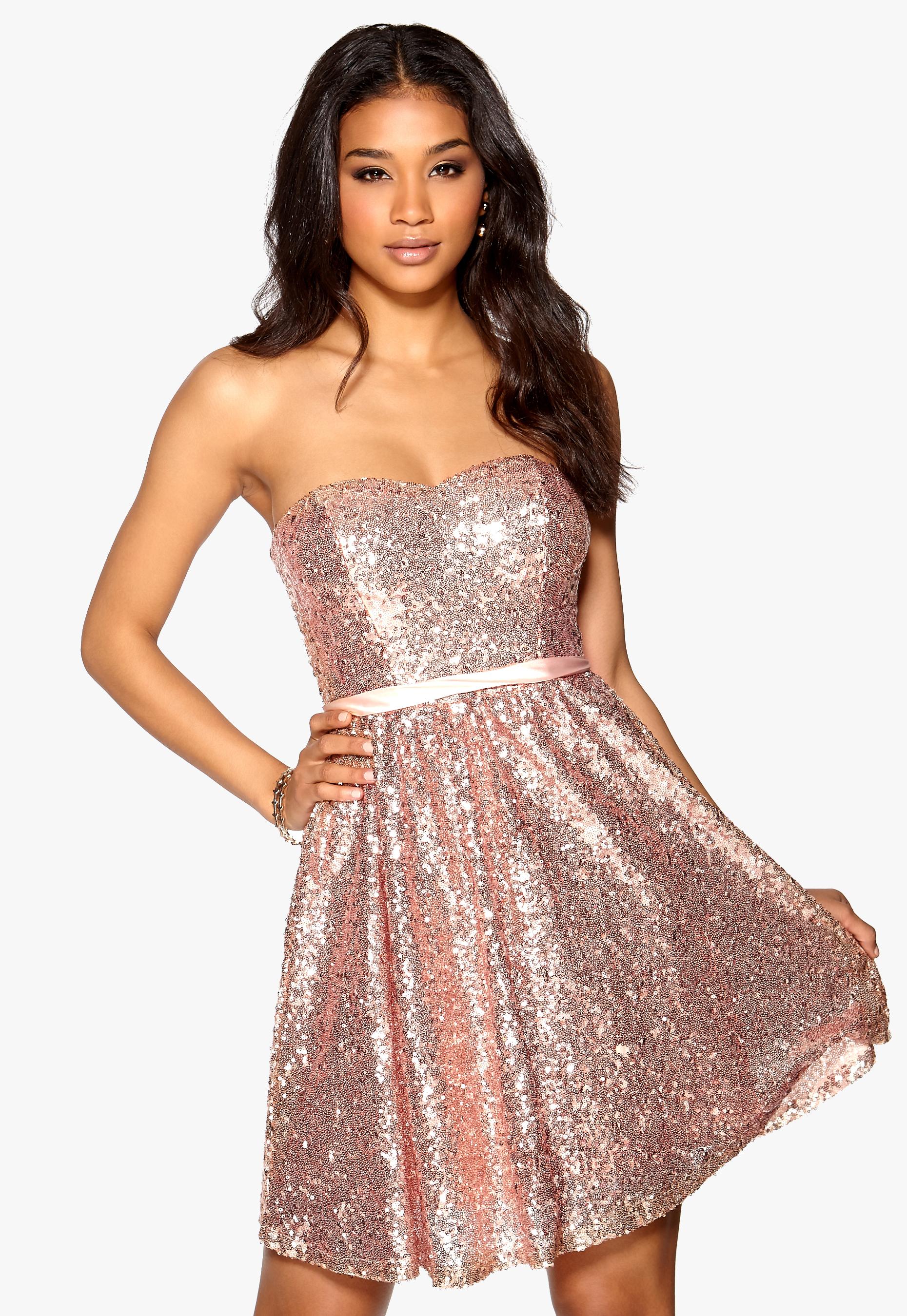 Model Behaviour Ellen Dress Rose gold Bubbleroom