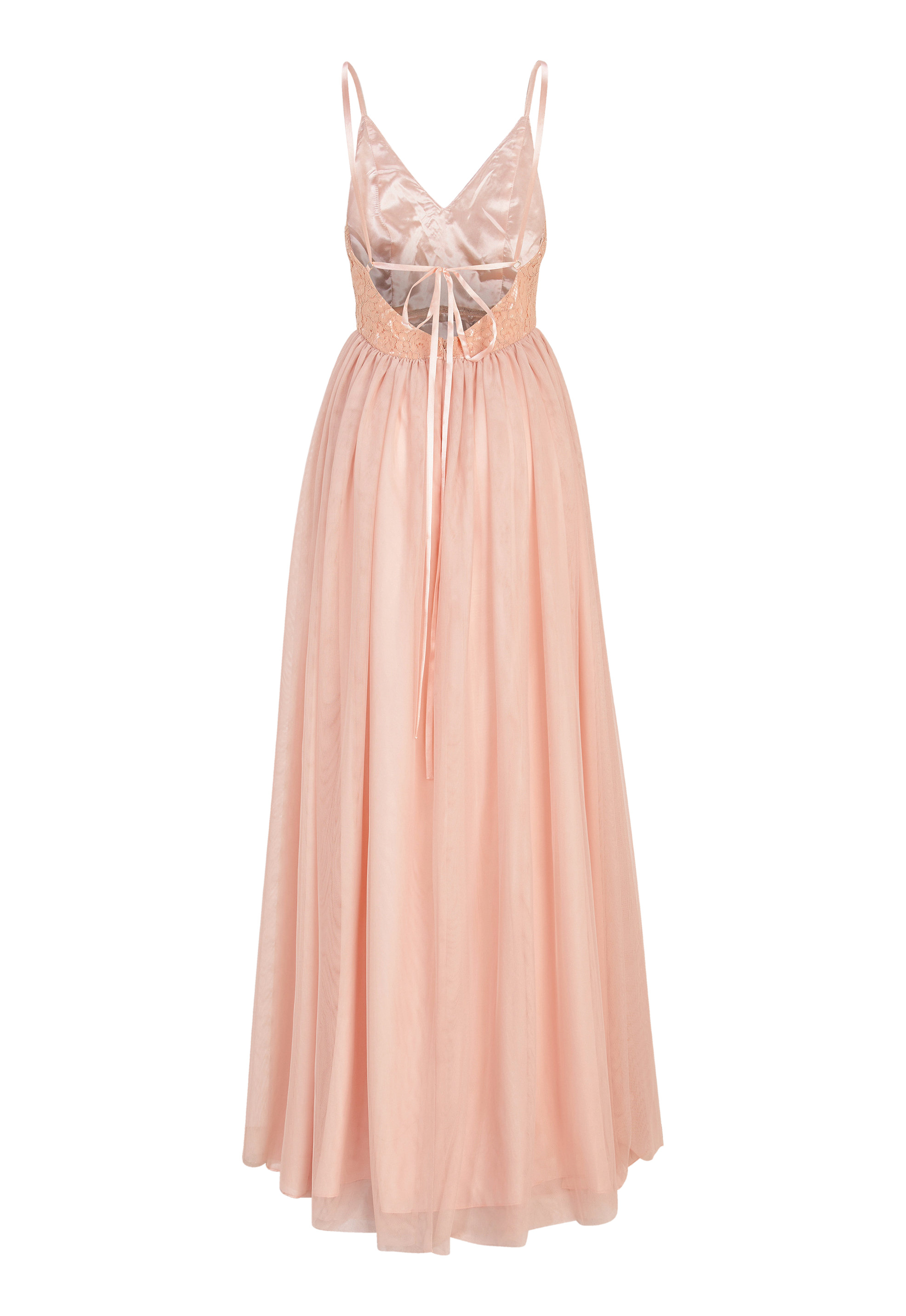 b7406961678f Moments New York Daphne Mesh Gown Dusty pink - Bubbleroom