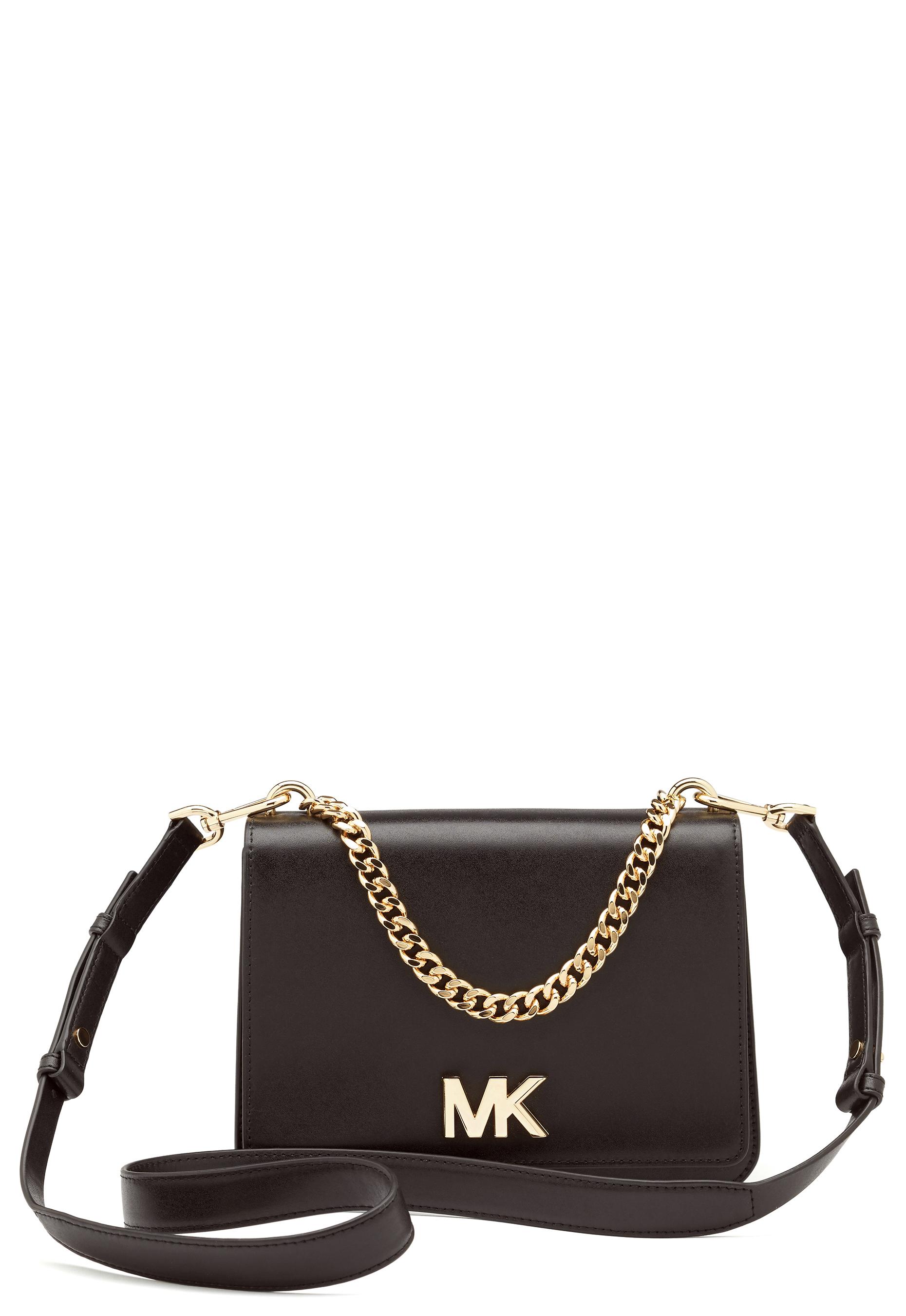 4694995ae7e7 Michael Michael Kors Mott Chain Shoulder Bag Black - Bubbleroom