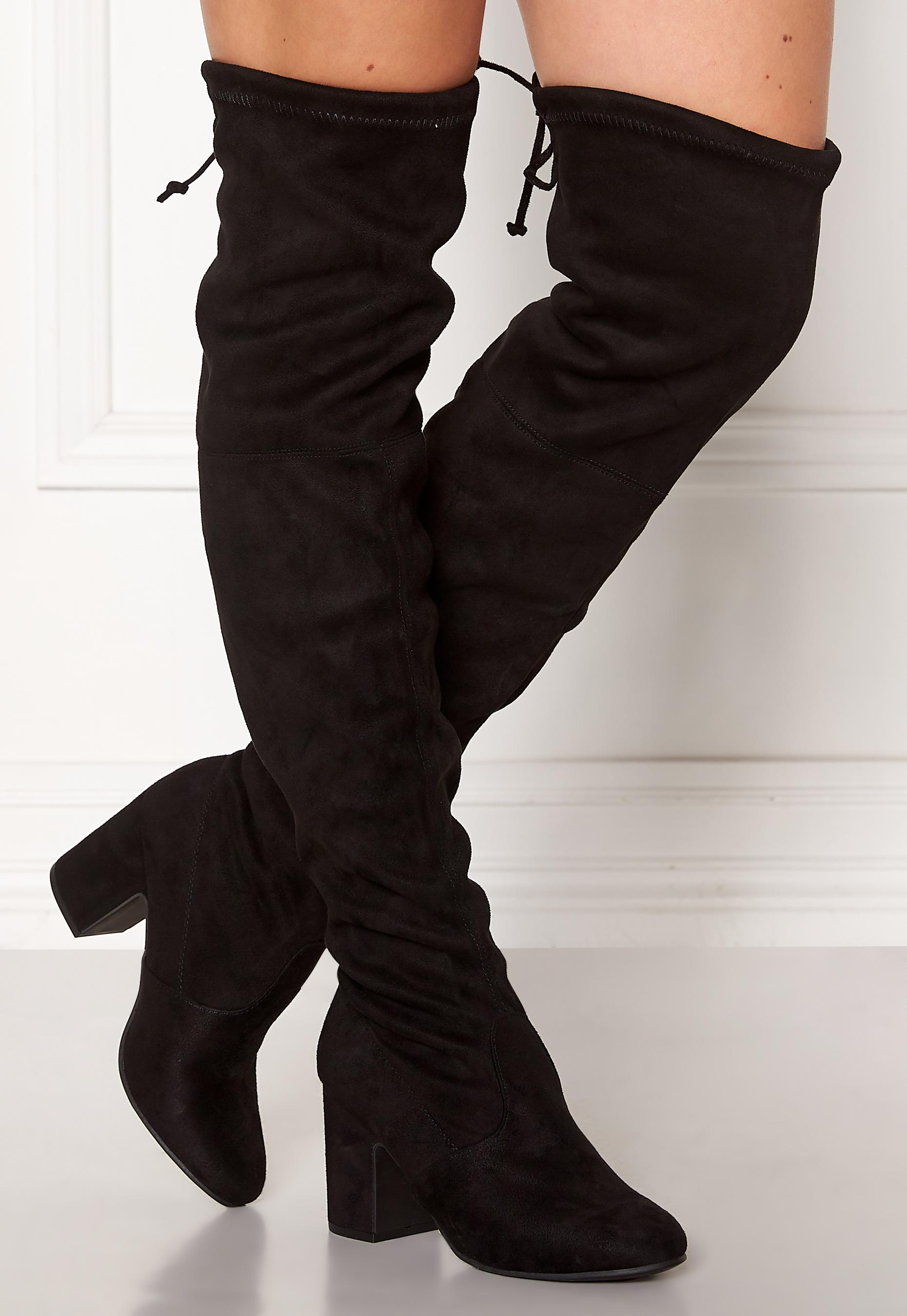 New Look Erica High Leg Boots Black