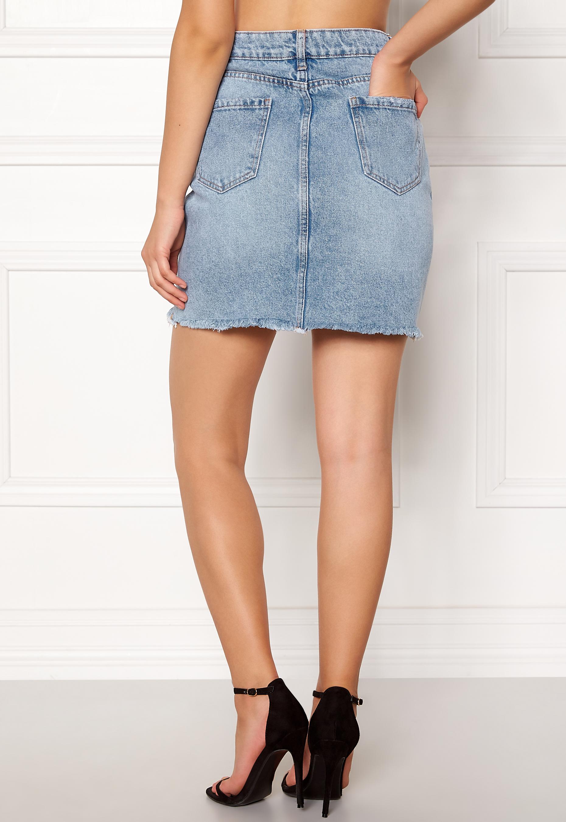 New Look Harvey Cut Off Skirt Wedgewood - Bubbleroom 5dd68b3d1f18