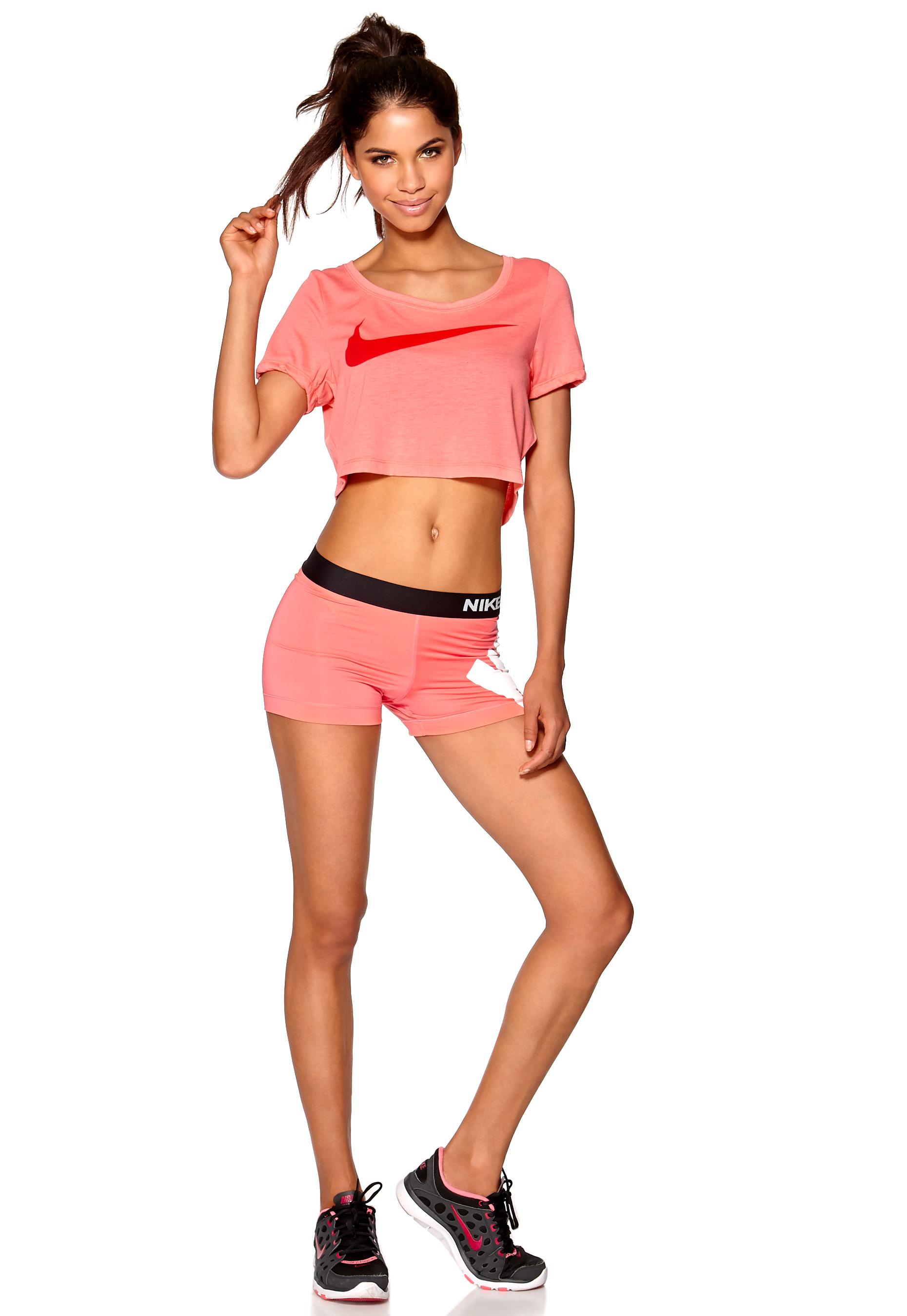 ec1ec751 Nike Swoosh Crop Top 654 Apricot - Bubbleroom