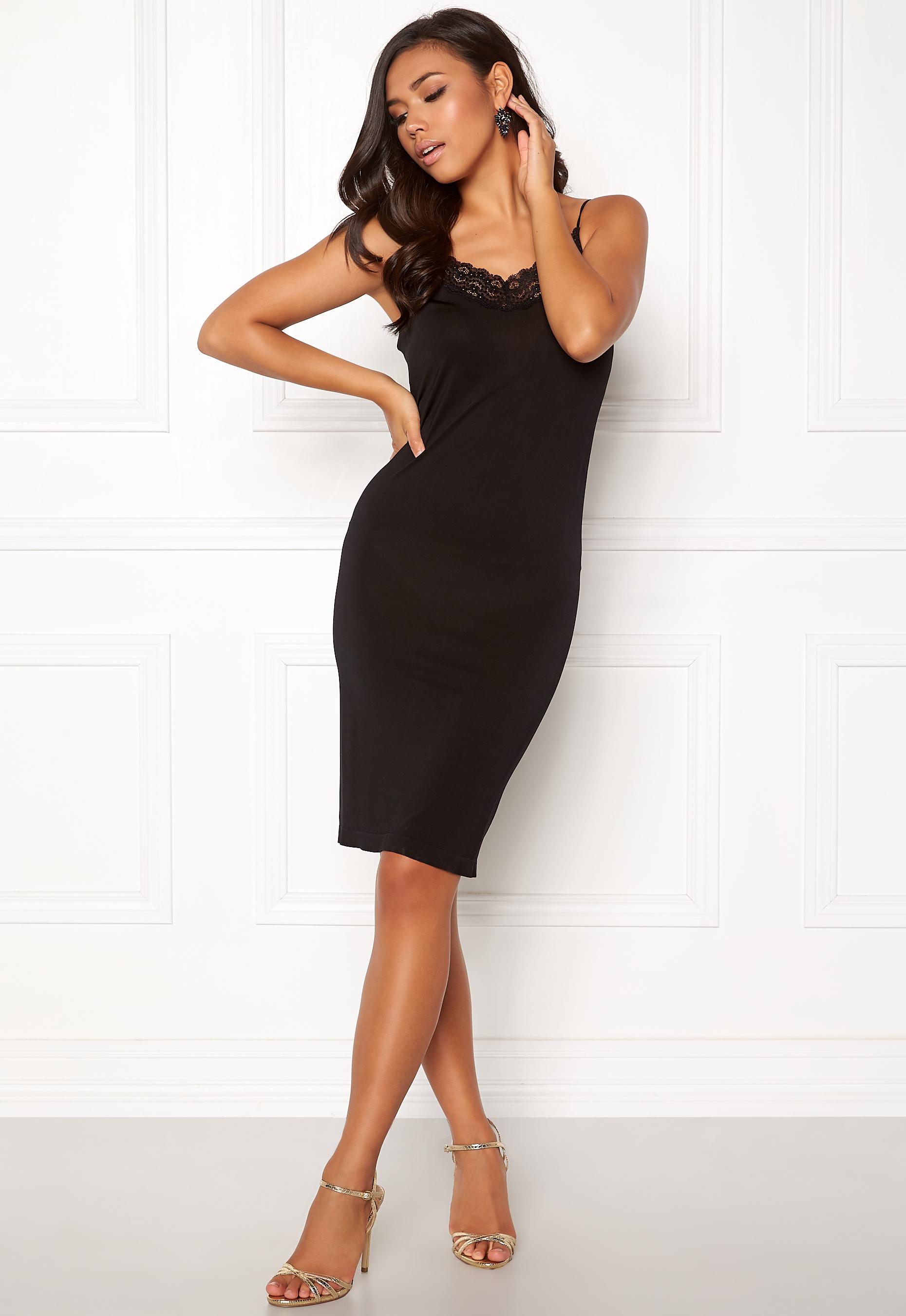 22caa085 OBJECT Leena Lace Singlet Dress Black - Bubbleroom
