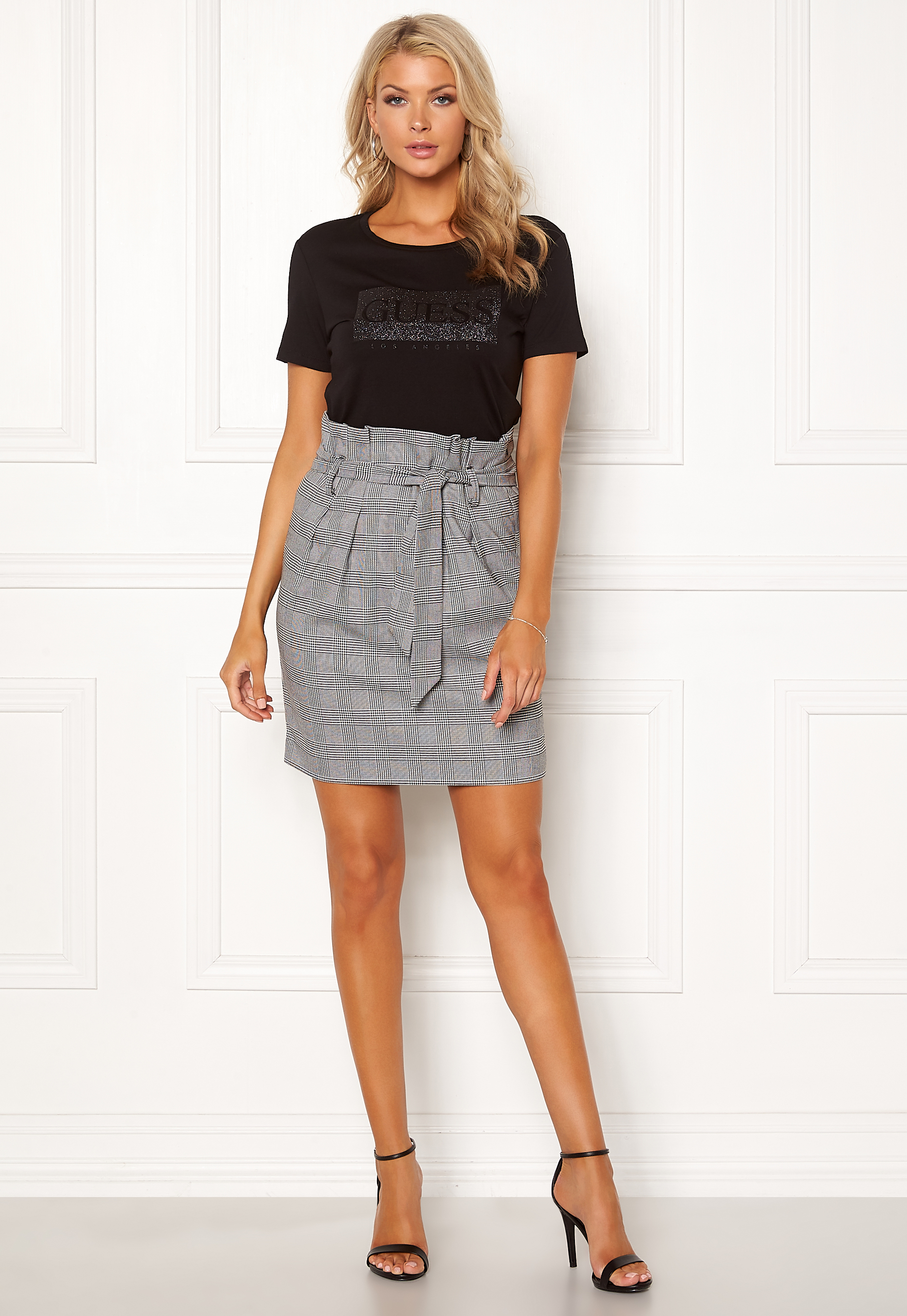 3bf4a713 OBJECT Lisa Abella Mini Skirt Gardenia/Checks - Bubbleroom