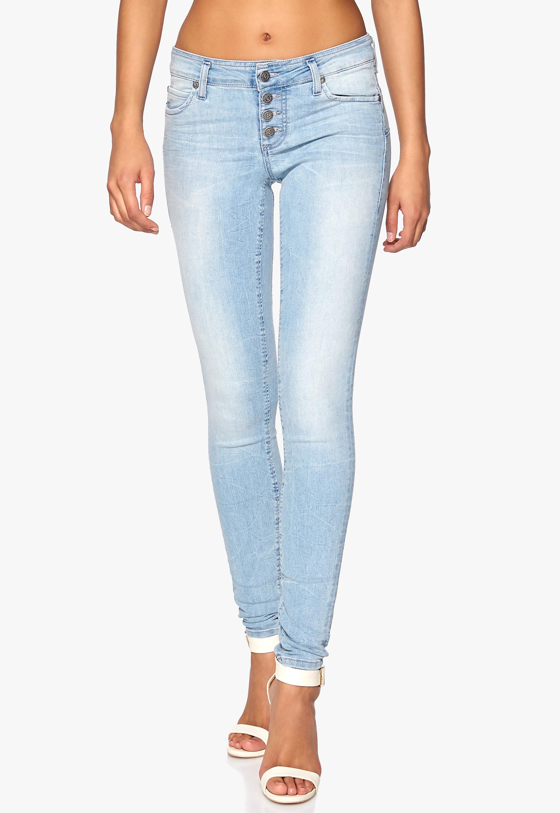 bff70ba4a783 OBJECT Liva Super Slim Jeans Light Blue Denim - Bubbleroom