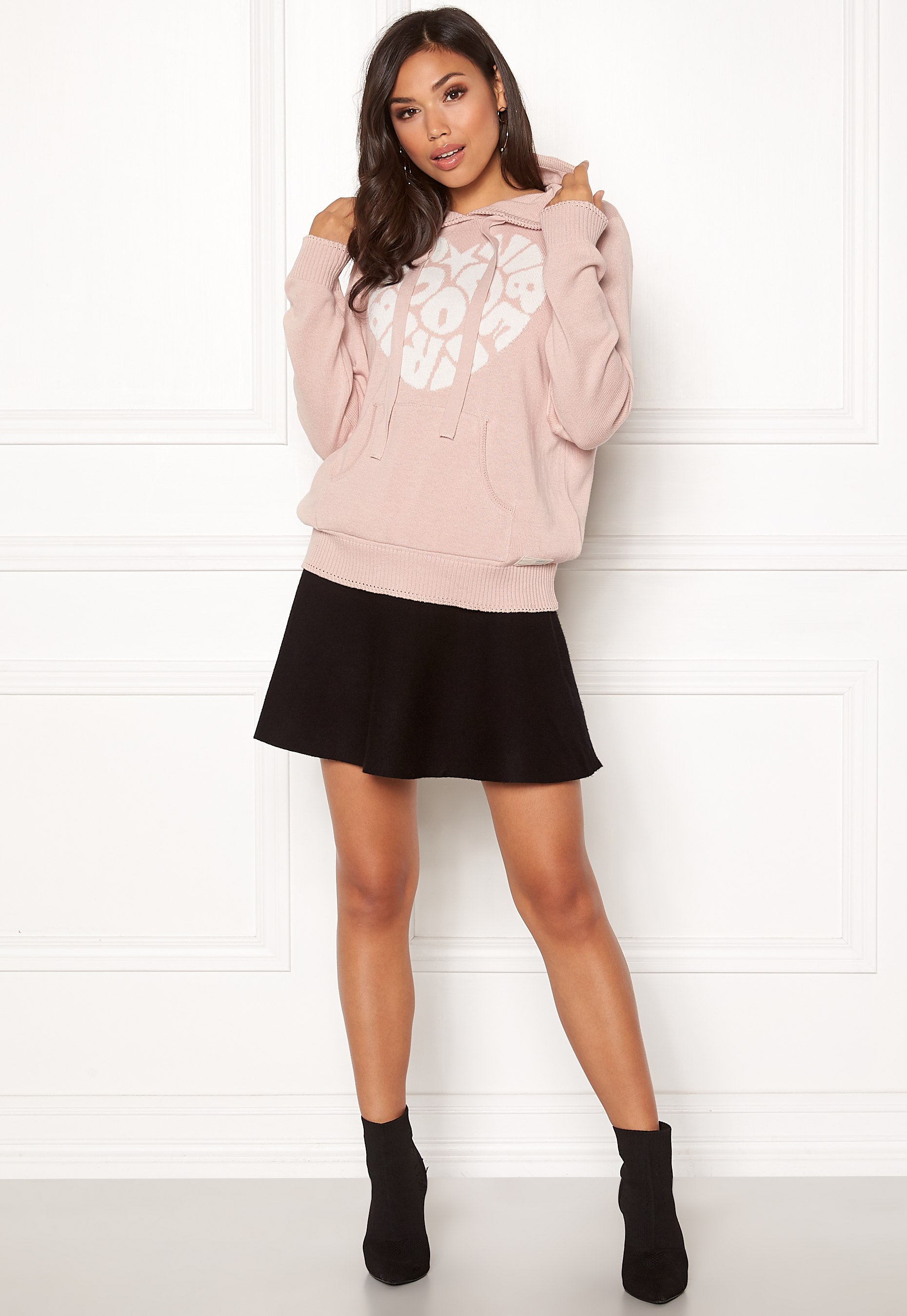 051b0a318ad3 Odd Molly Hey Baby Hood Sweater Pink Sand - Bubbleroom