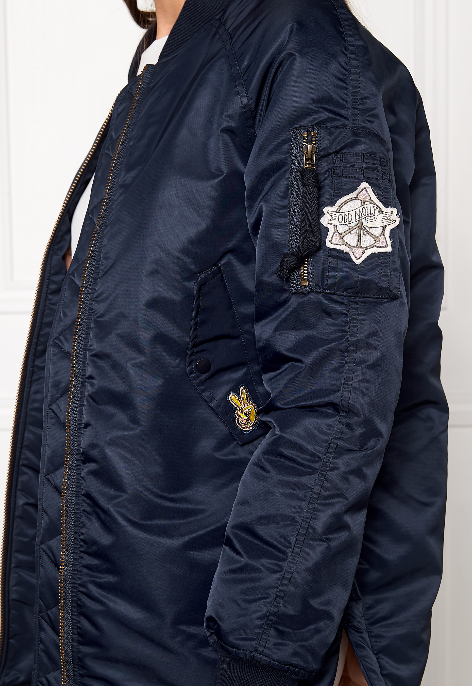 e6c10caa6e2a Odd Molly Love Bomber Jacket Dark Navy - Bubbleroom