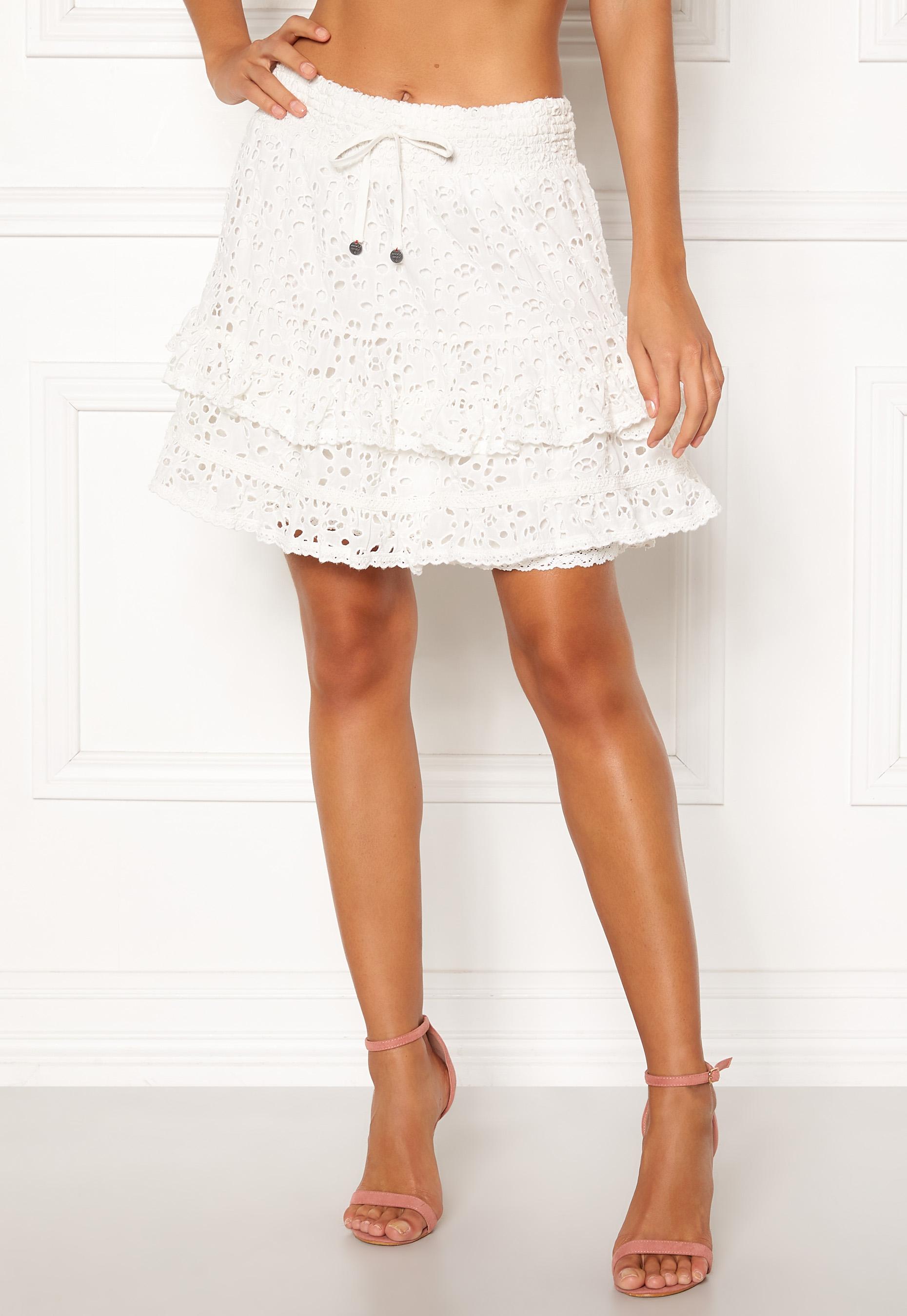 5f35cc09 Odd Molly Swag Blossom Skirt Light Chalk - Bubbleroom