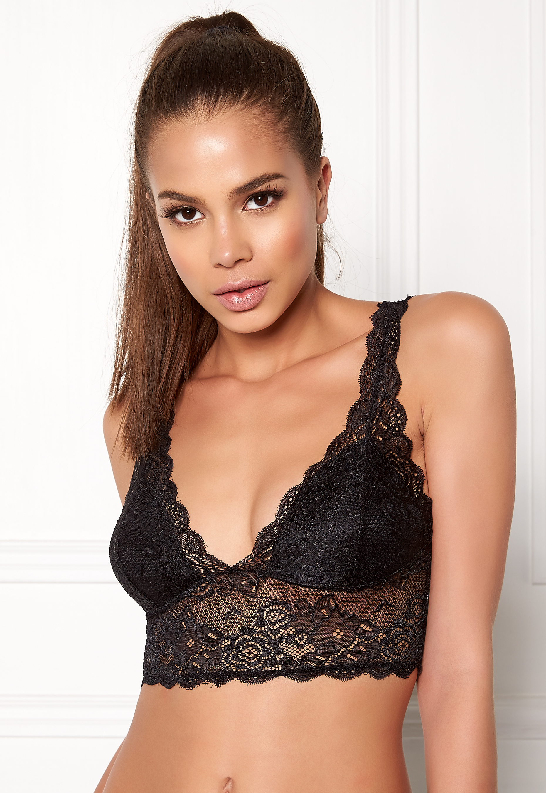 ba1c936b119249 ONLY Chloe Lace Bra Black - Bubbleroom