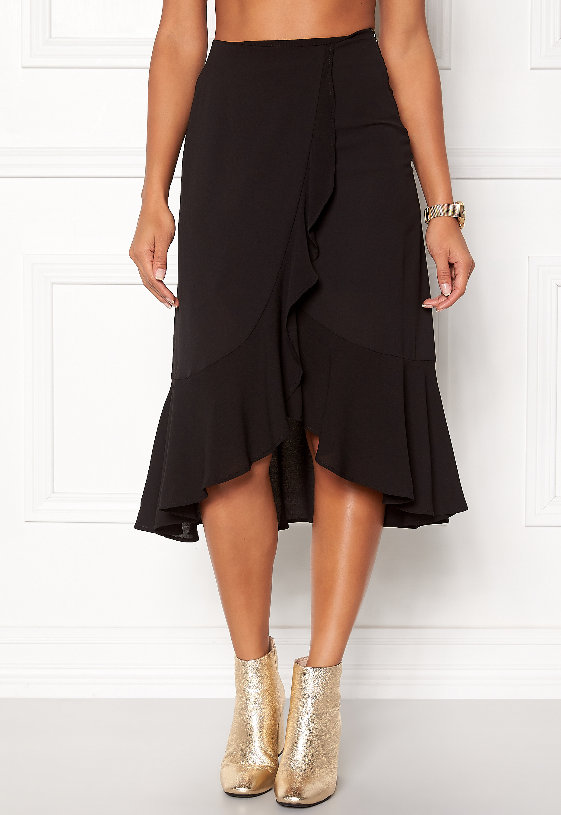 68862df8 ONLY Ella Flounce Skirt Black - Bubbleroom