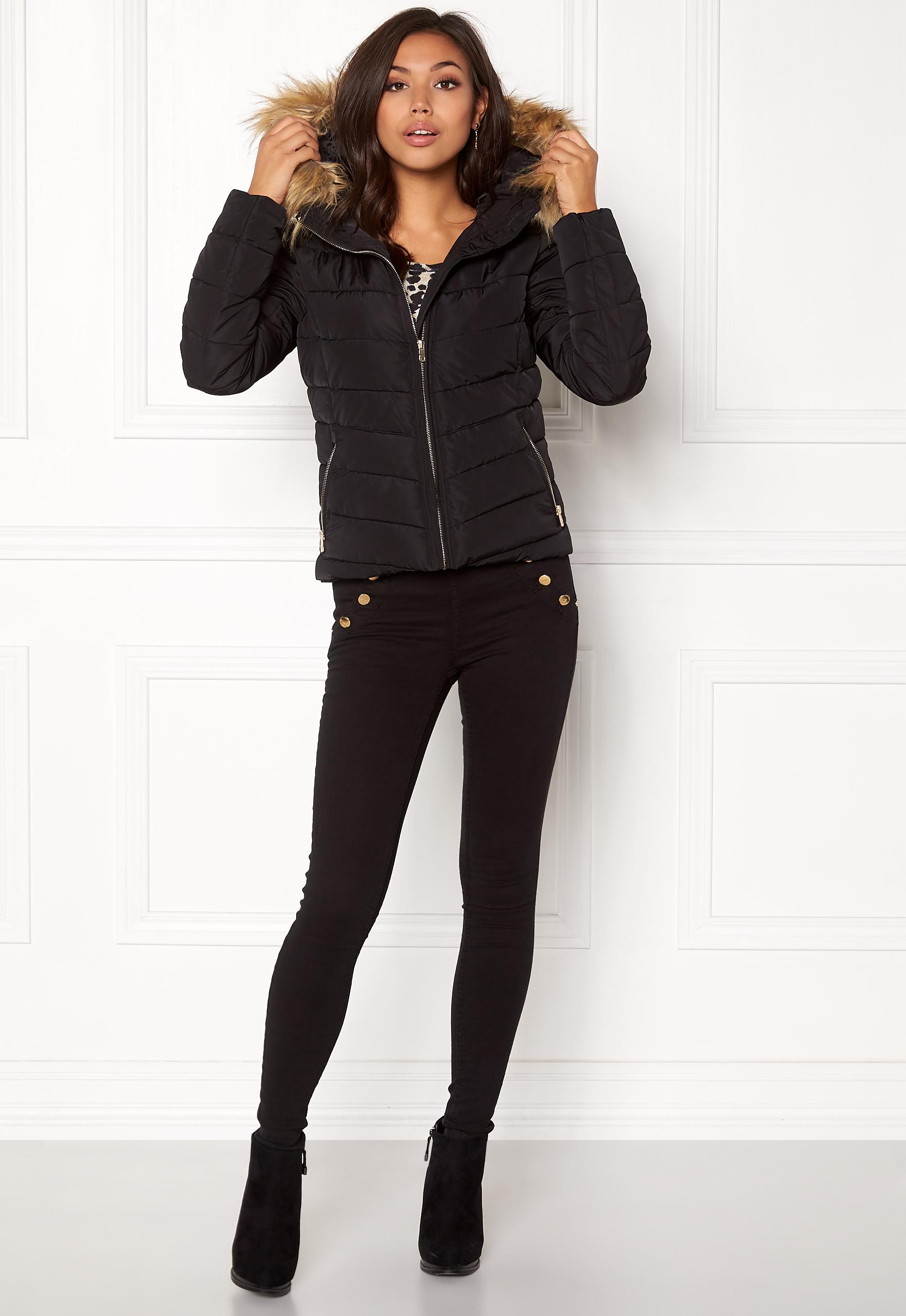 Only Onlnew Ellan Quilted Fur Hood Jacket Otw Giacca Donna