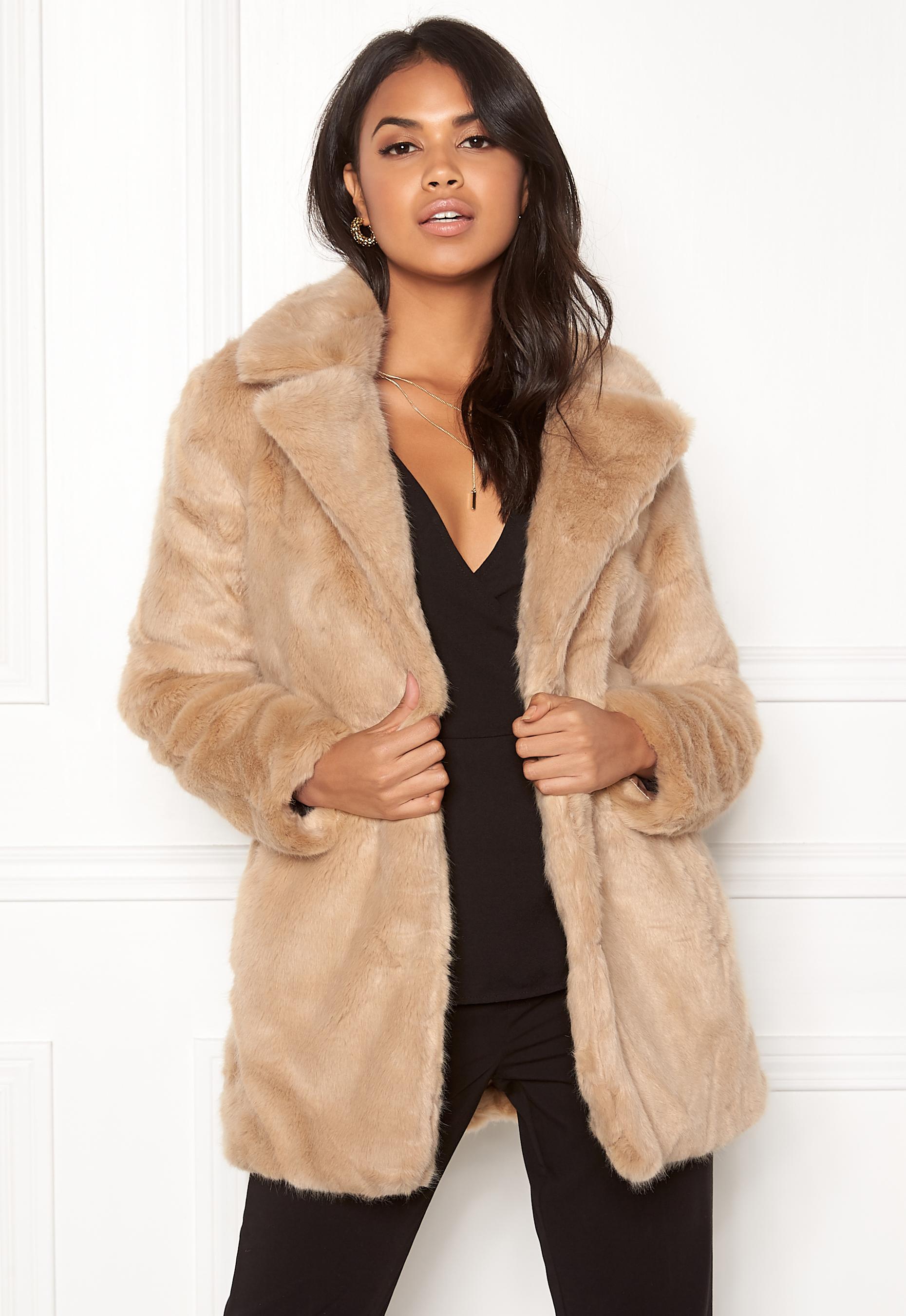 ONLY Milana Faux Fur Coat Pure Cashmere - Bubbleroom 0c7b68f79951c