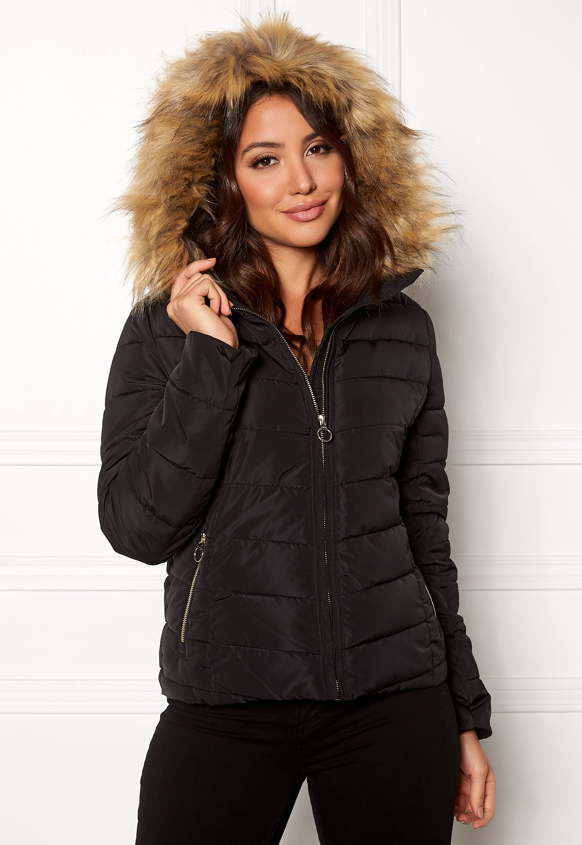 29e5b576 ONLY New Ellan Quilted Jacket Black - Bubbleroom