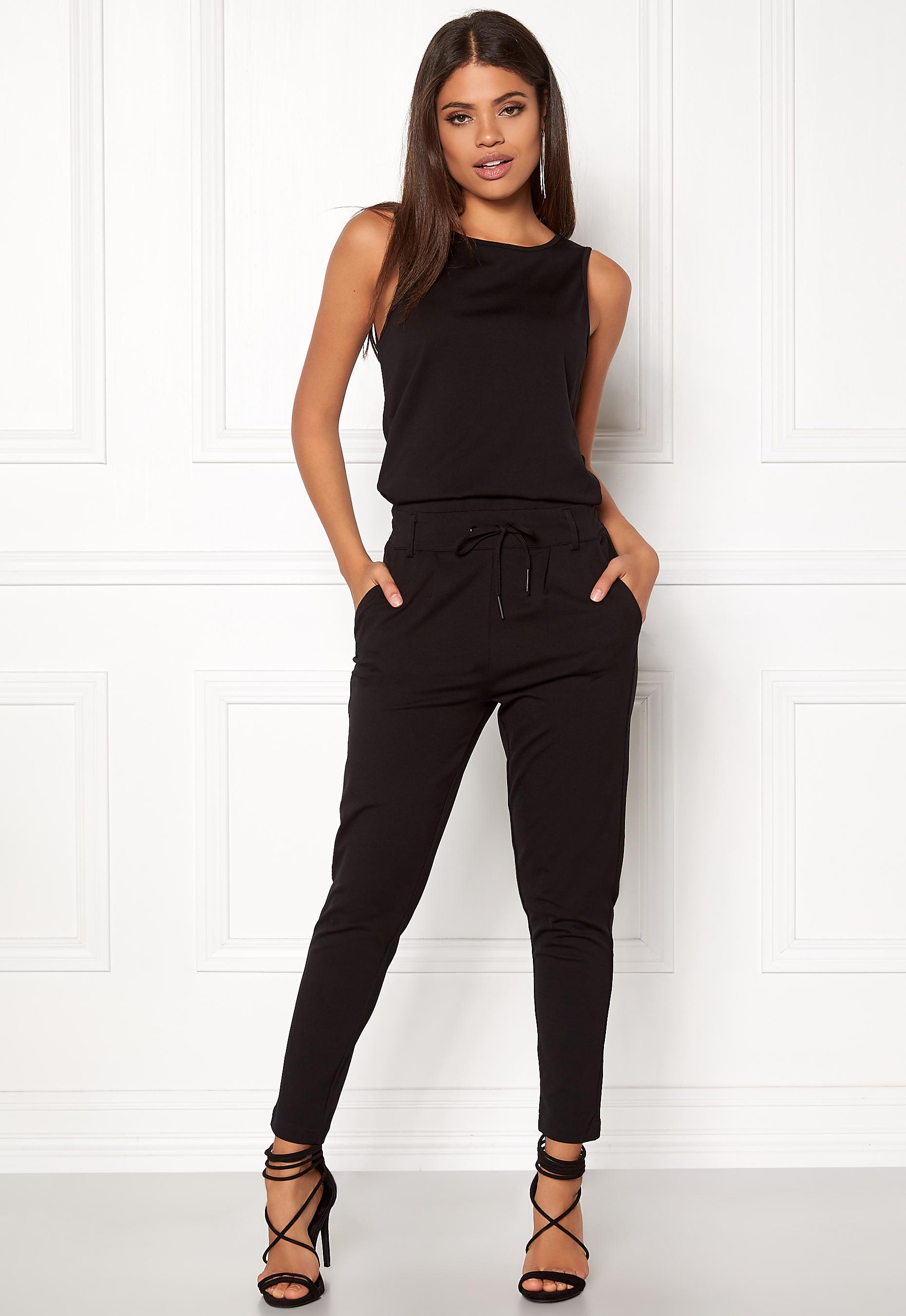 02fe8168b52 ONLY Poptrash Easy Jumpsuit Black - Bubbleroom
