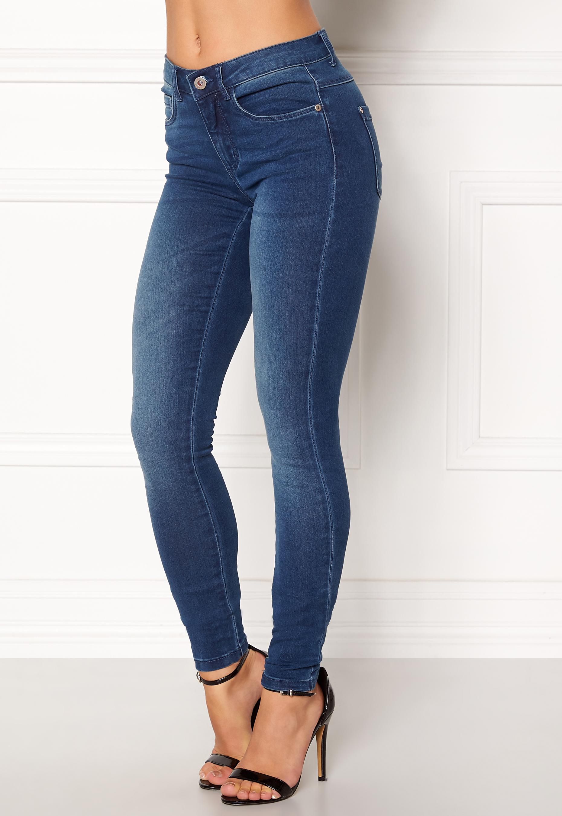 179c1b9ba3 ONLY Royal Skinny Jeans Medium Blue Denim - Bubbleroom