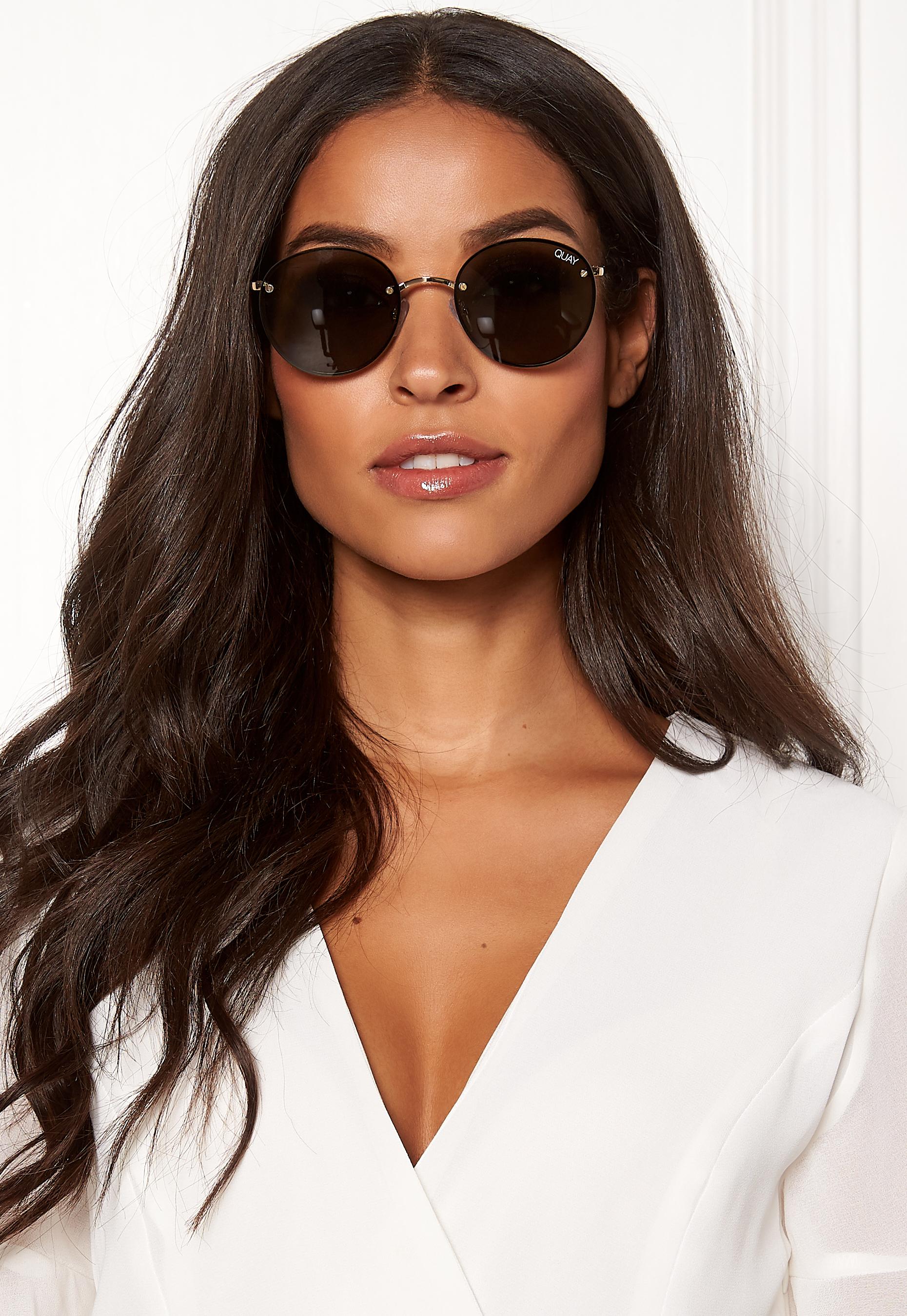 9e56857a7ce Quay Australia Farrah Sunglasses Gold  Green Lens - Bubbleroom