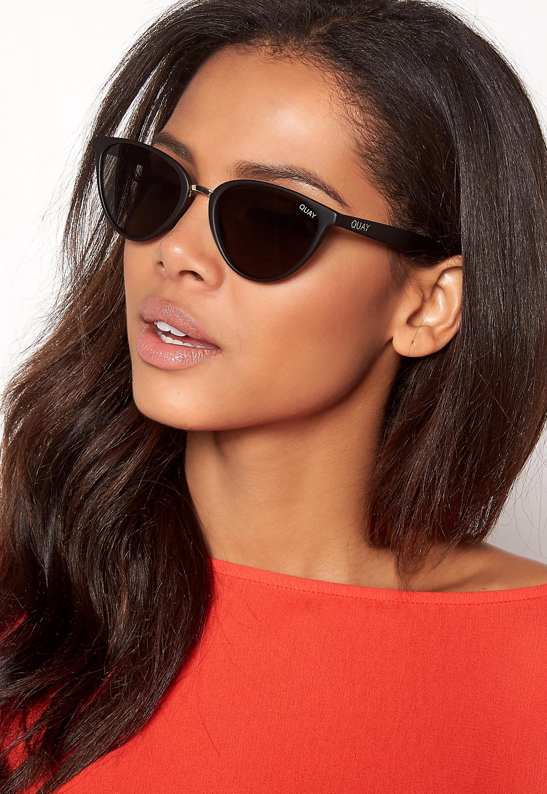 72805a9b8c13a Quay Australia Rumours Sunglasses Black Smoke Lens - Bubbleroom