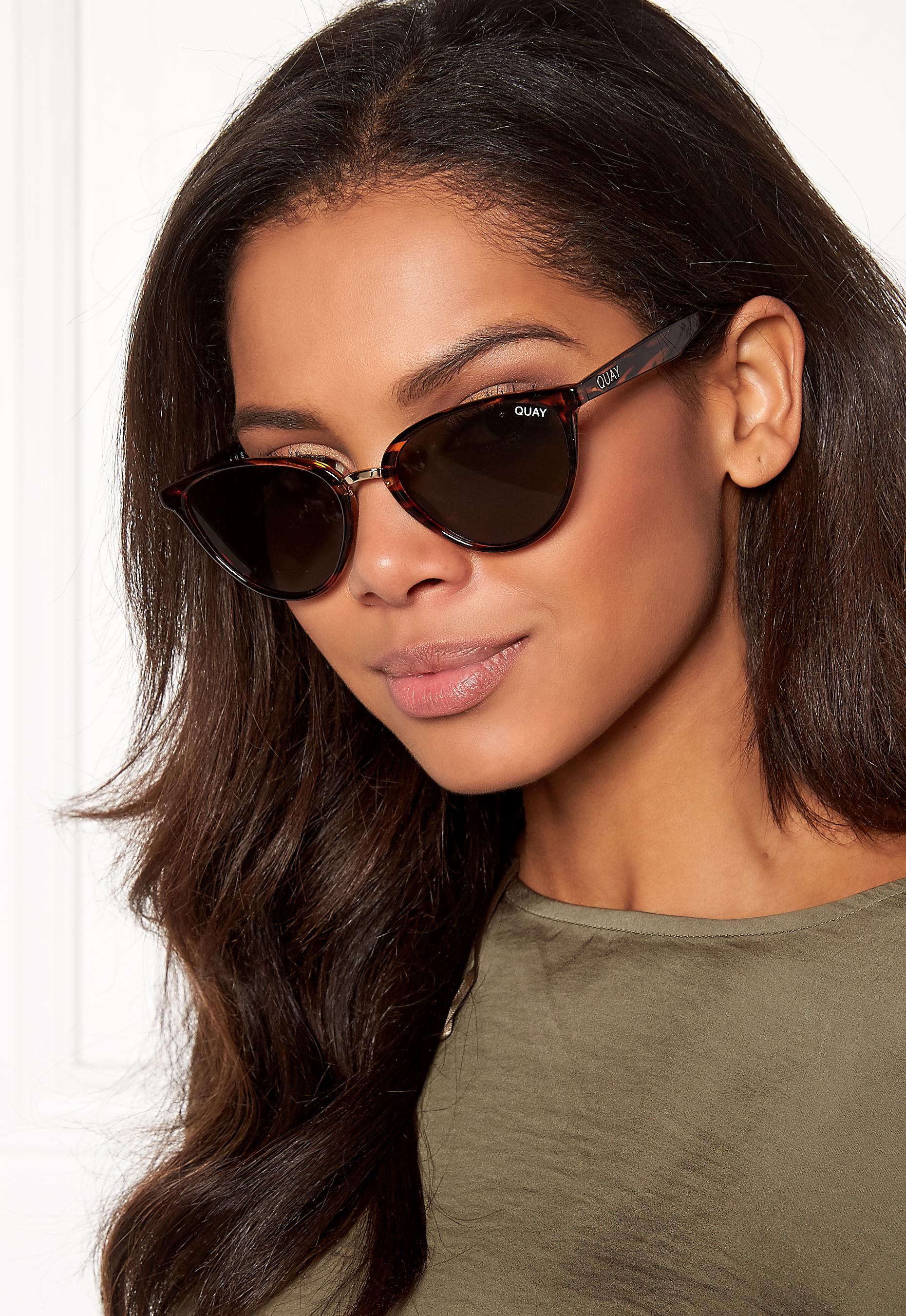 12e28e7428 Quay Australia Rumours Sunglasses Tort Green Lens - Bubbleroom