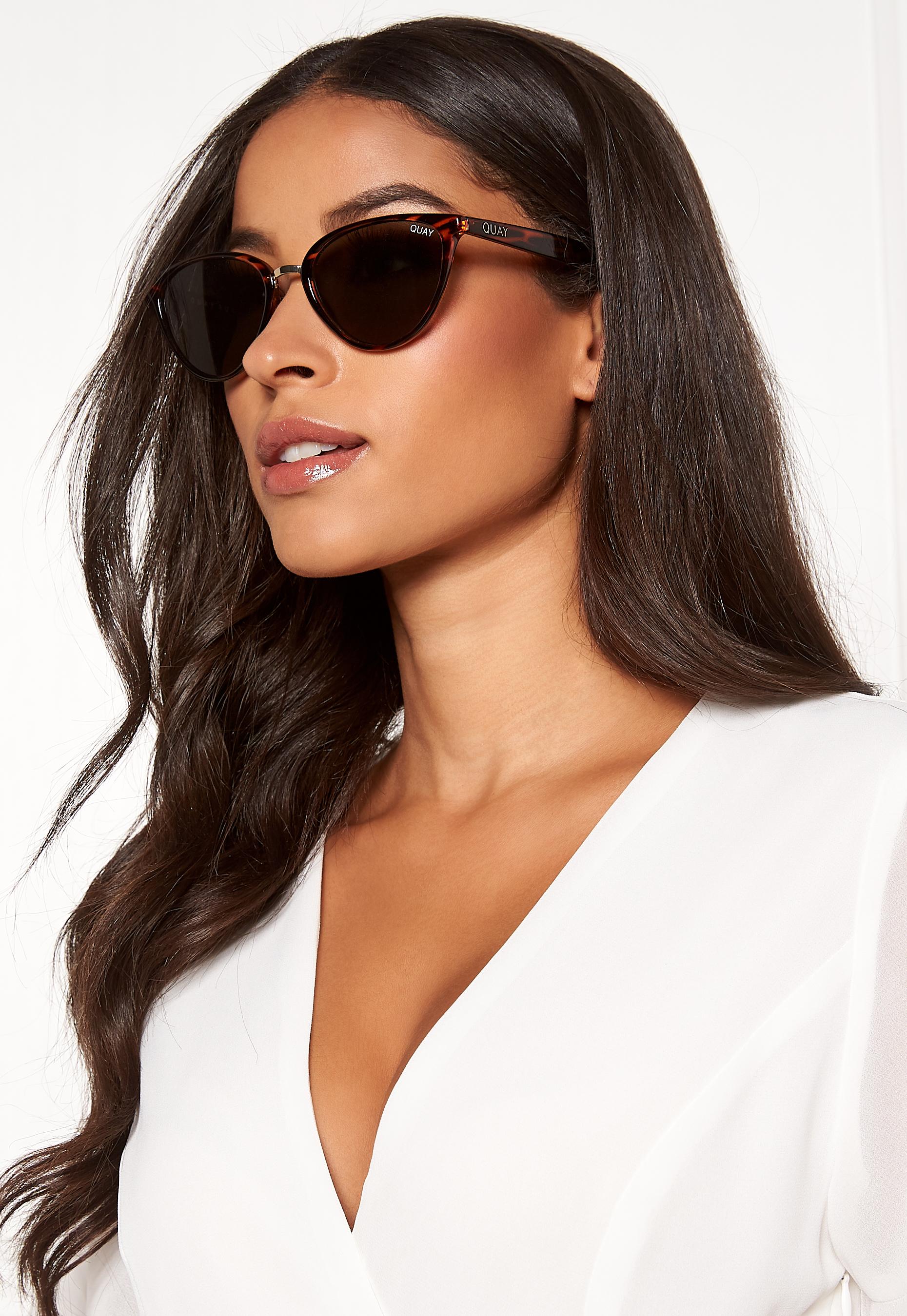 aa64134631bf9 Quay Australia Rumours Sunglasses Tort Green - Bubbleroom