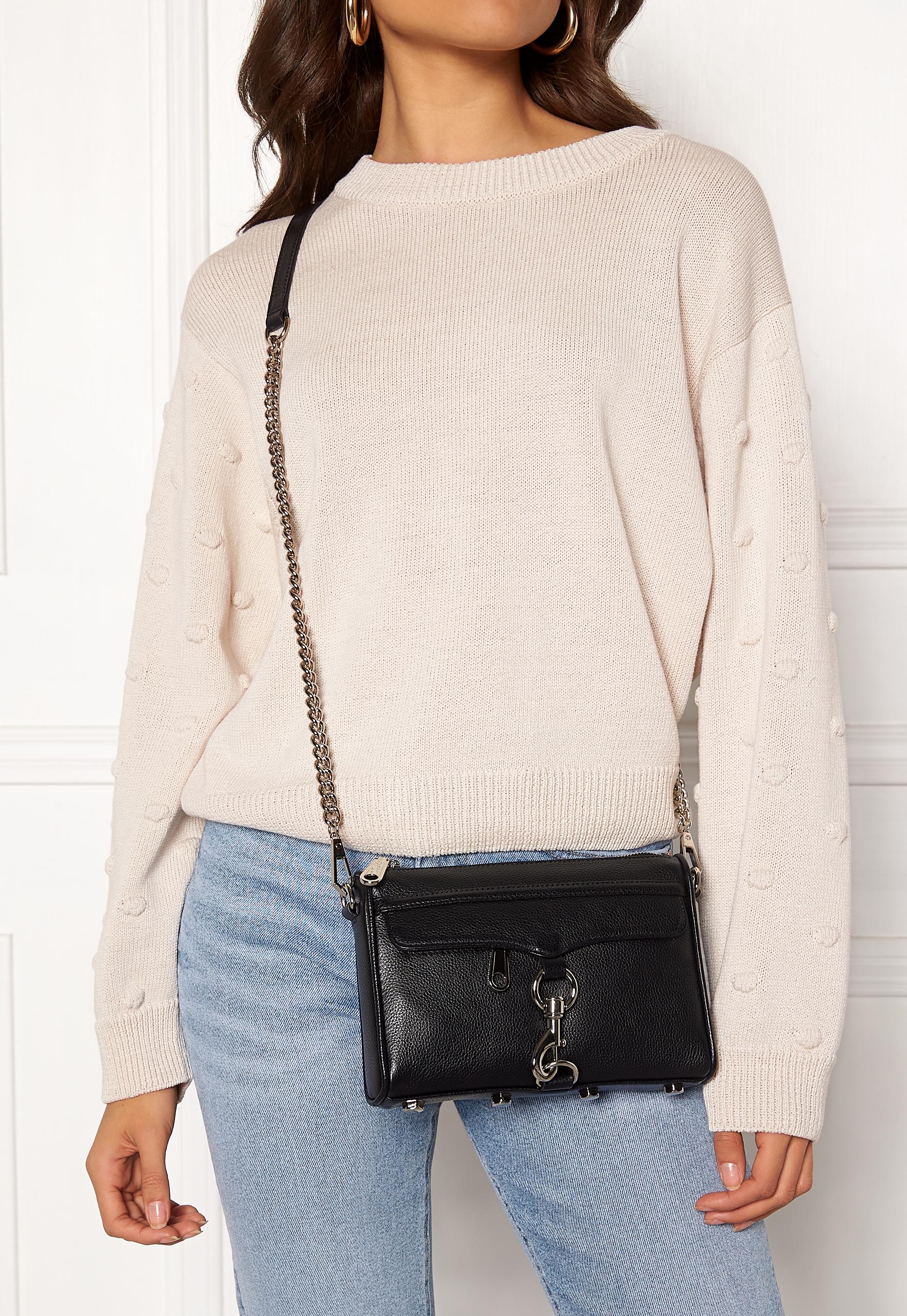 Keine Verkaufssteuer großartiges Aussehen fairer Preis Rebecca Minkoff Mini Mac Pebble Strap Bag Black - Bubbleroom