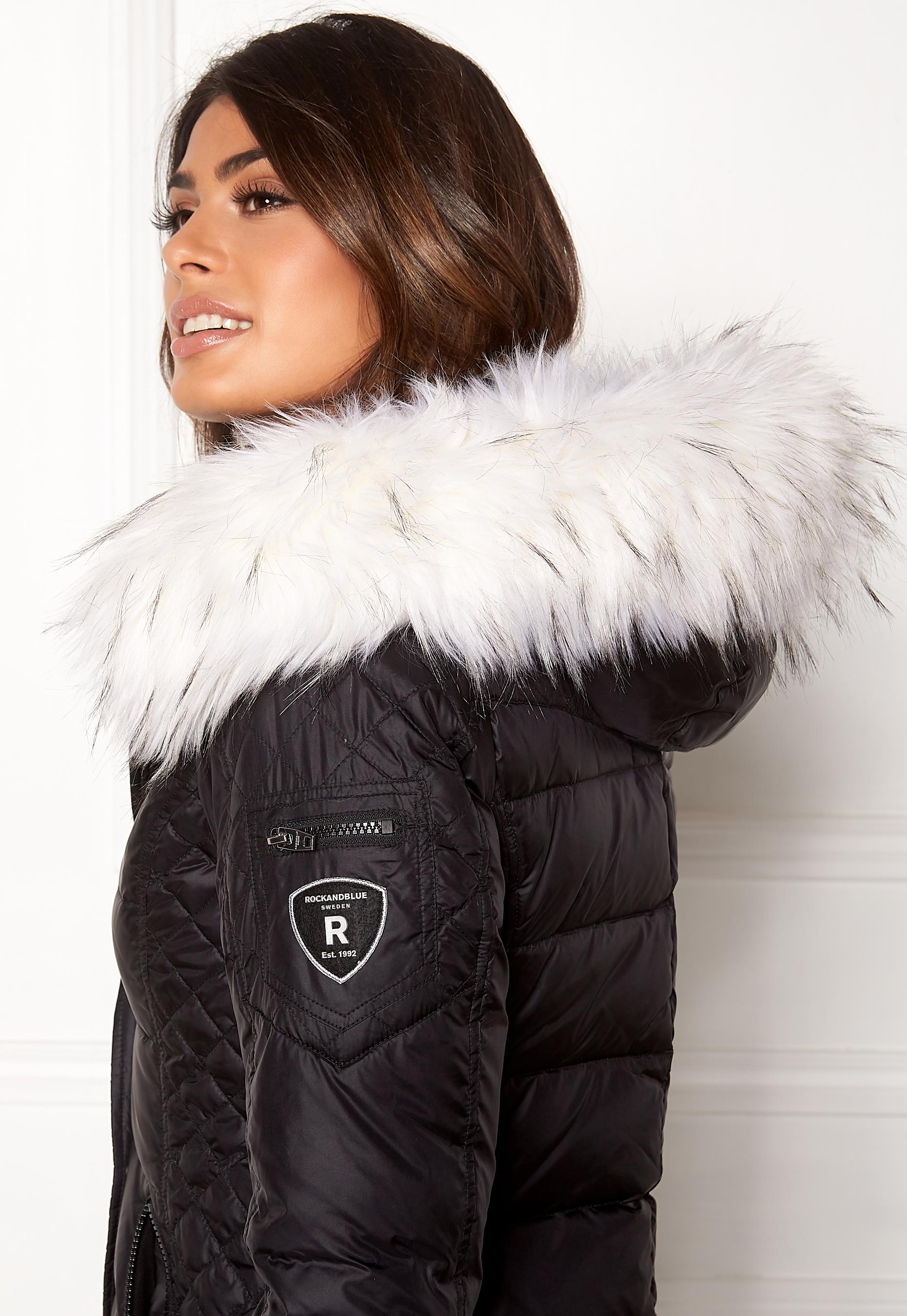 ecdc29fd ROCKANDBLUE Faux Fur Trim Black/Bleached - Bubbleroom