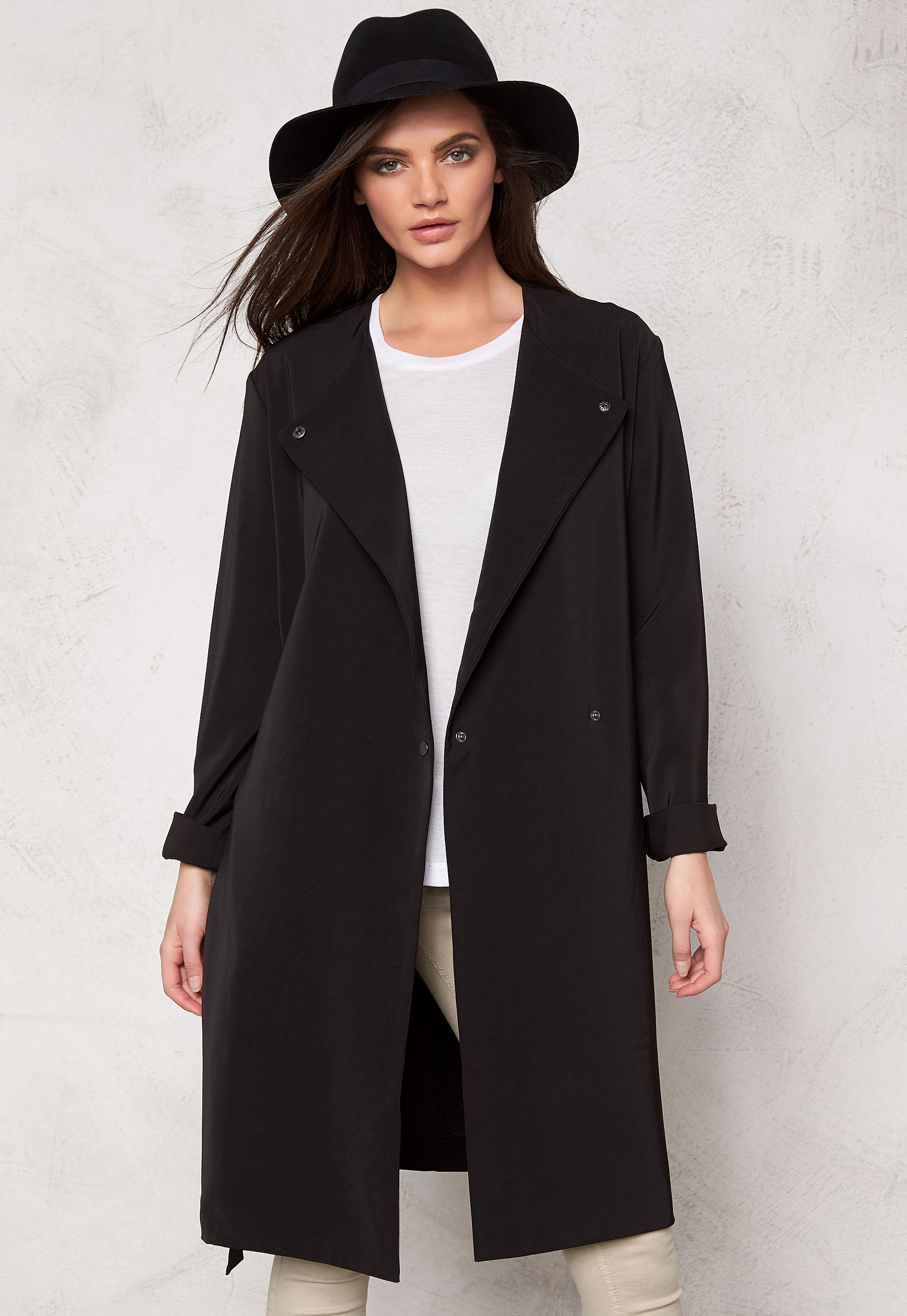 be7addf7 Samsøe & Samsøe Ria Long Jacket Black - Bubbleroom