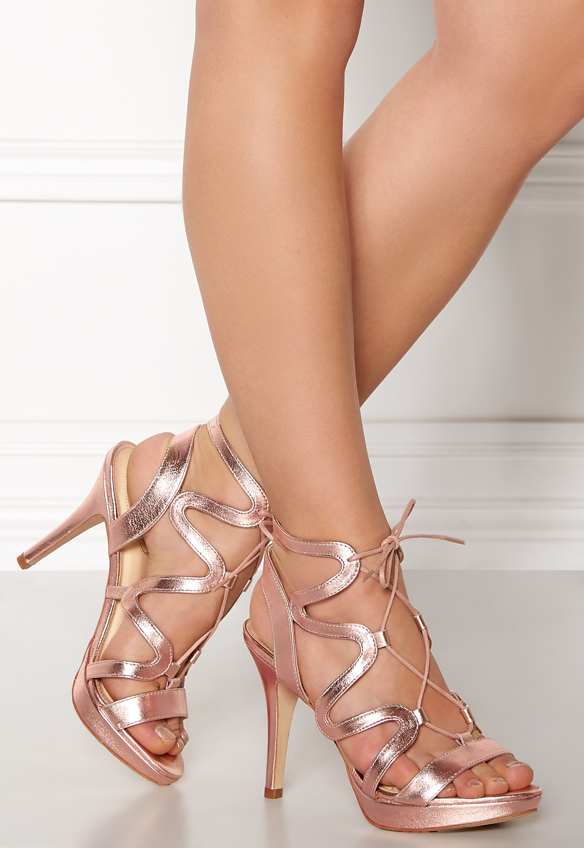 0a741a87833 SARGOSSA Chic Nappa Leather Heels Rose Gold - Bubbleroom