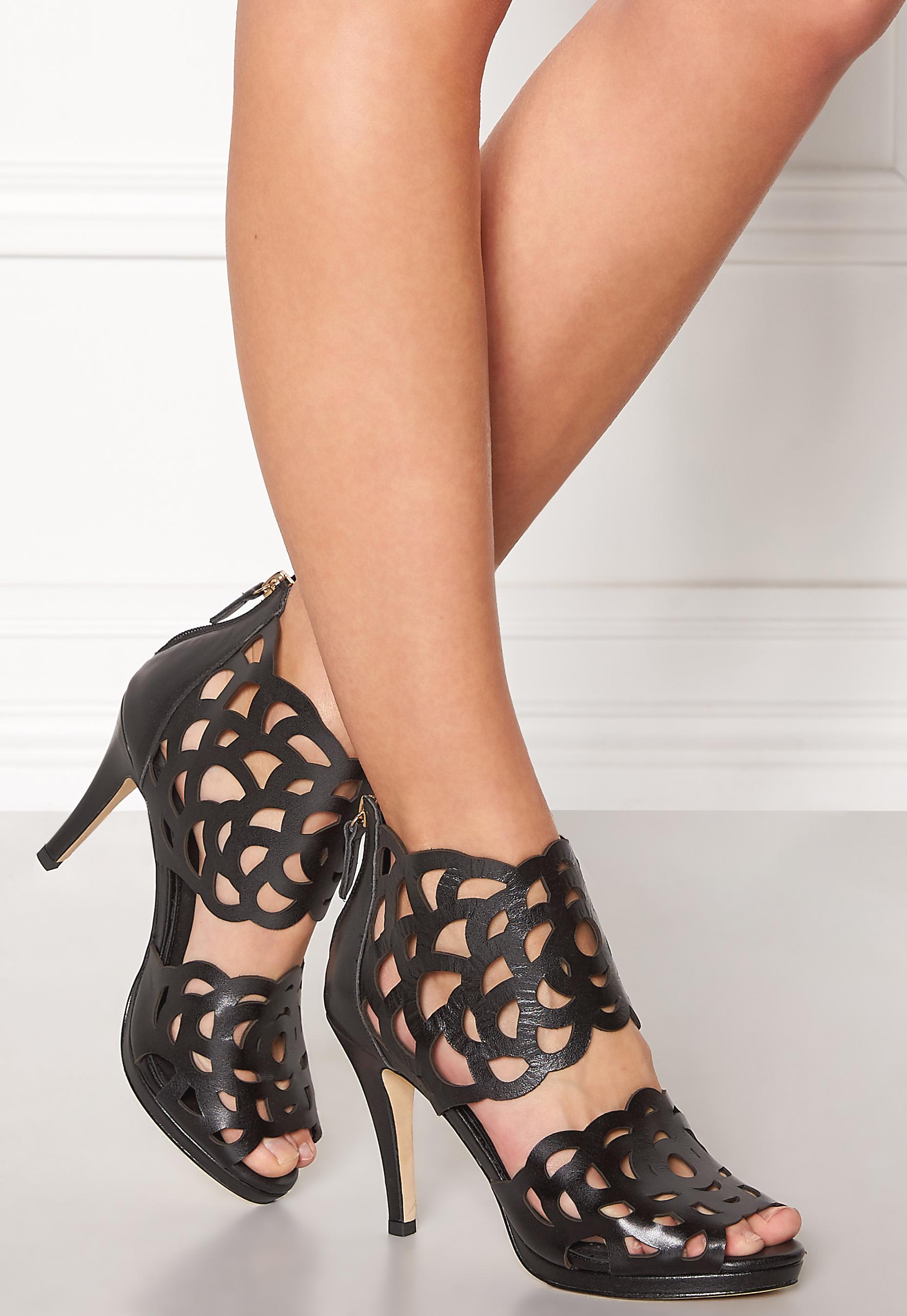 3607a9ccc0df SARGOSSA Inspire Heels Black Nappa - Bubbleroom