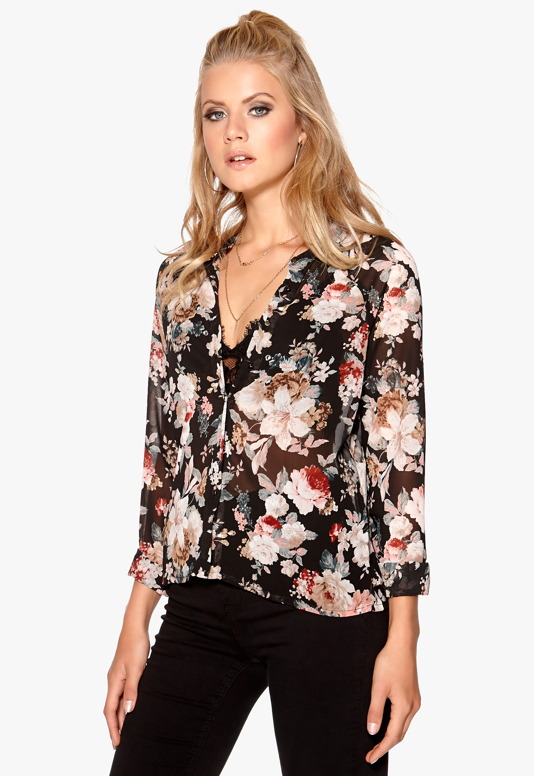 fa4f4f52 Sisters Point Voo shirt Flower - Bubbleroom