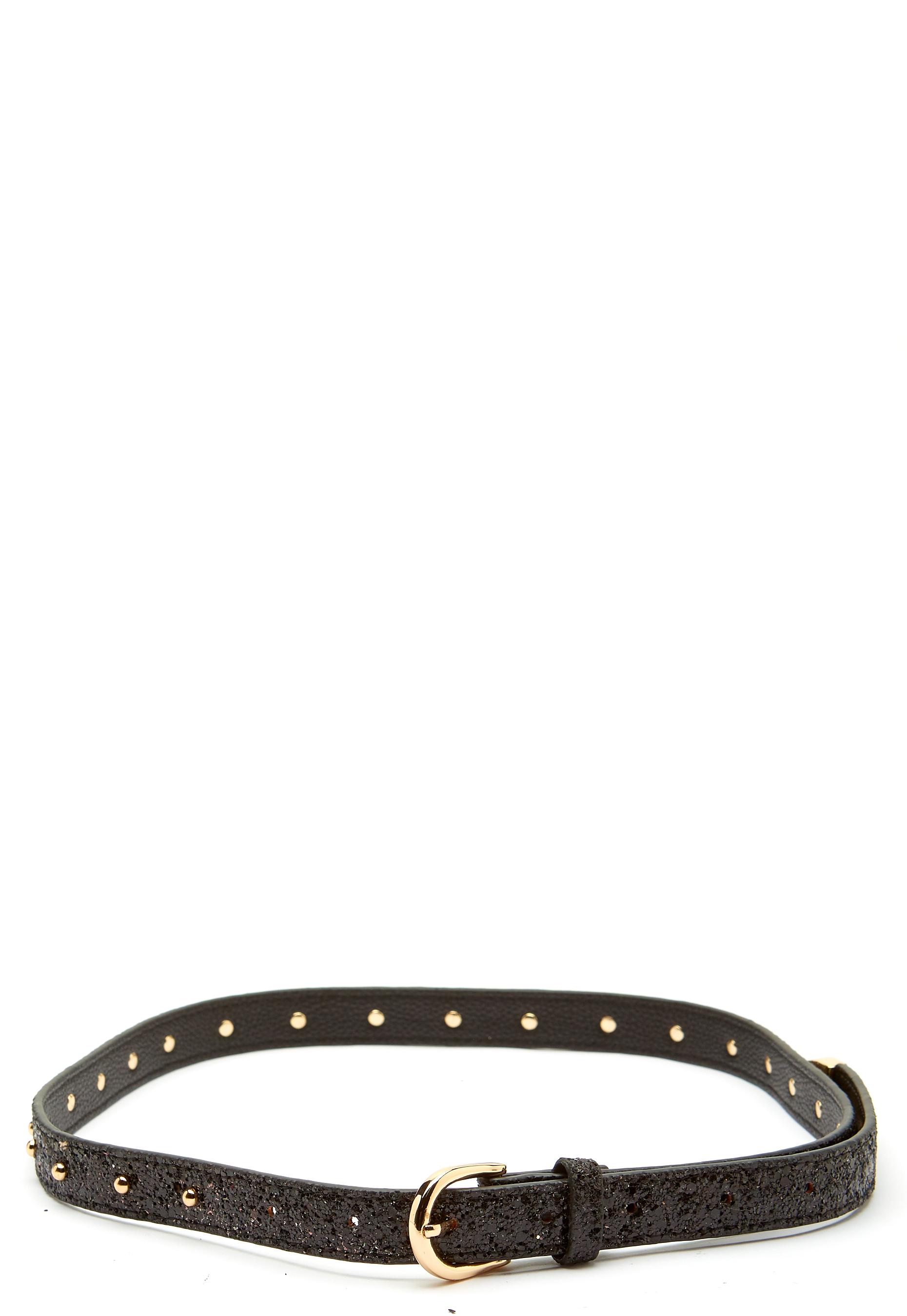 d781b4606f1 SOFIE SCHNOOR Belt Glitter Black - Bubbleroom