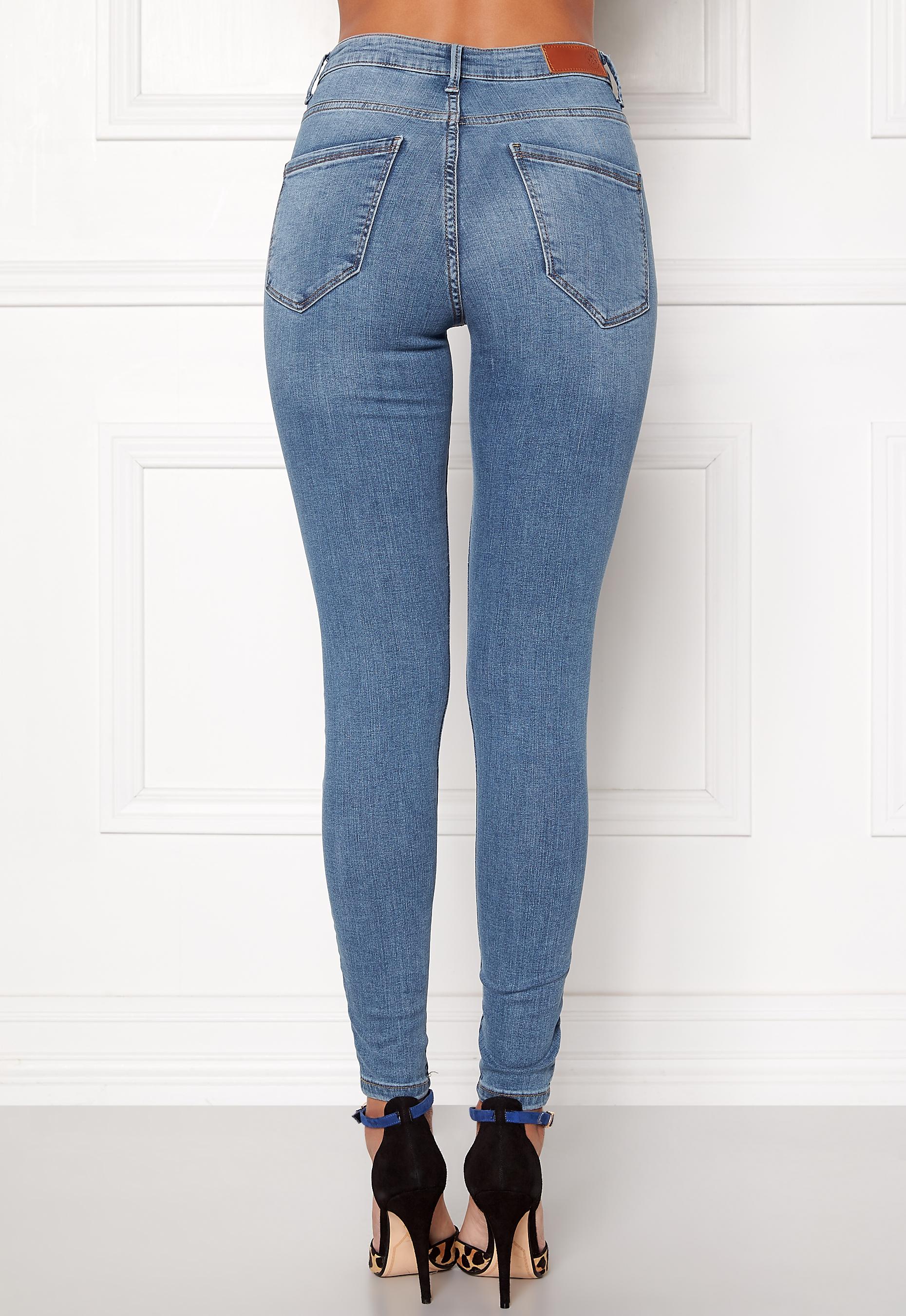 half off 17576 d0353 VERO MODA Sophia HW Skinny Jeans Light Blue Denim - Bubbleroom