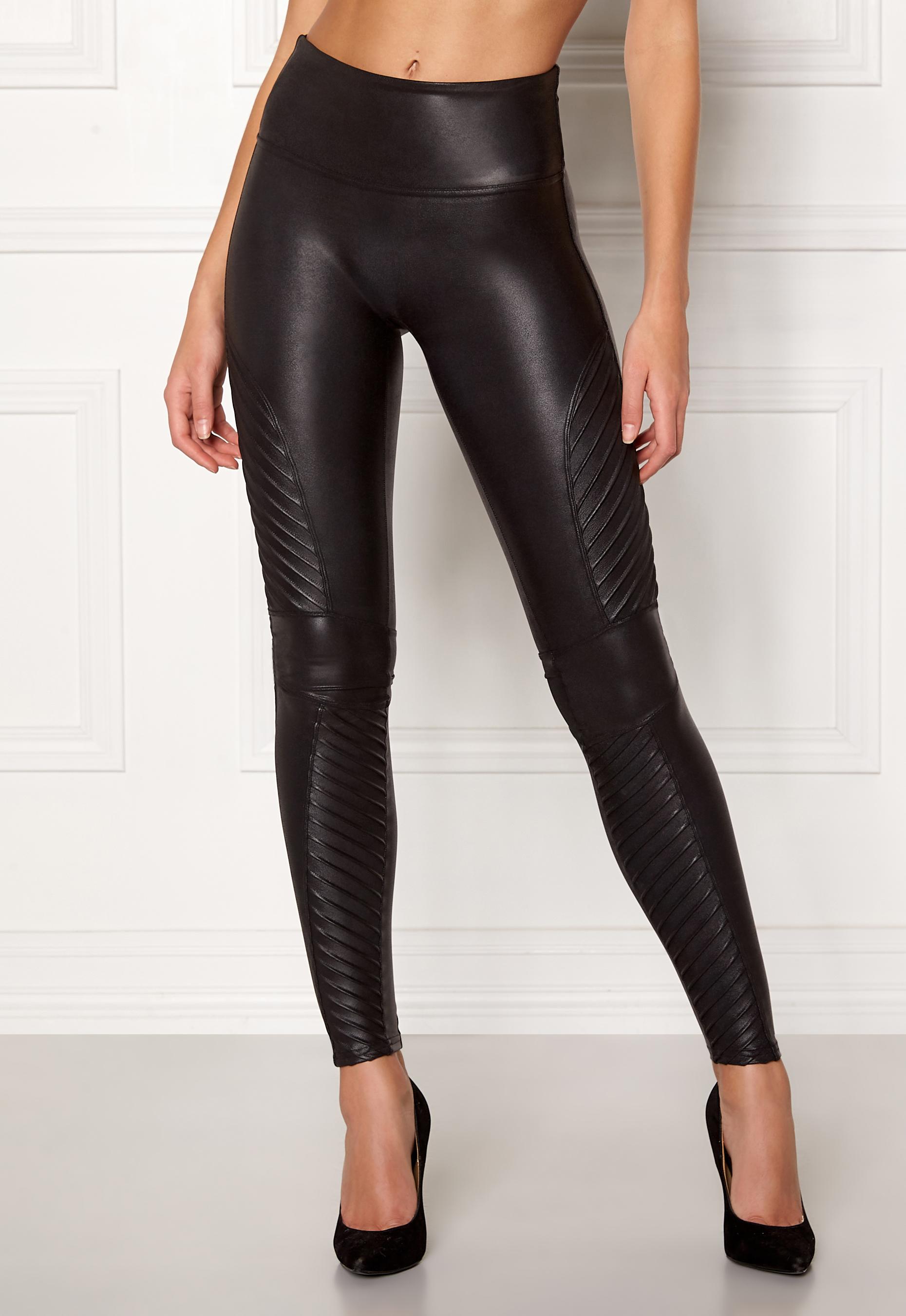 419ec14168ddf Spanx Moto Leggings Very Black - Bubbleroom