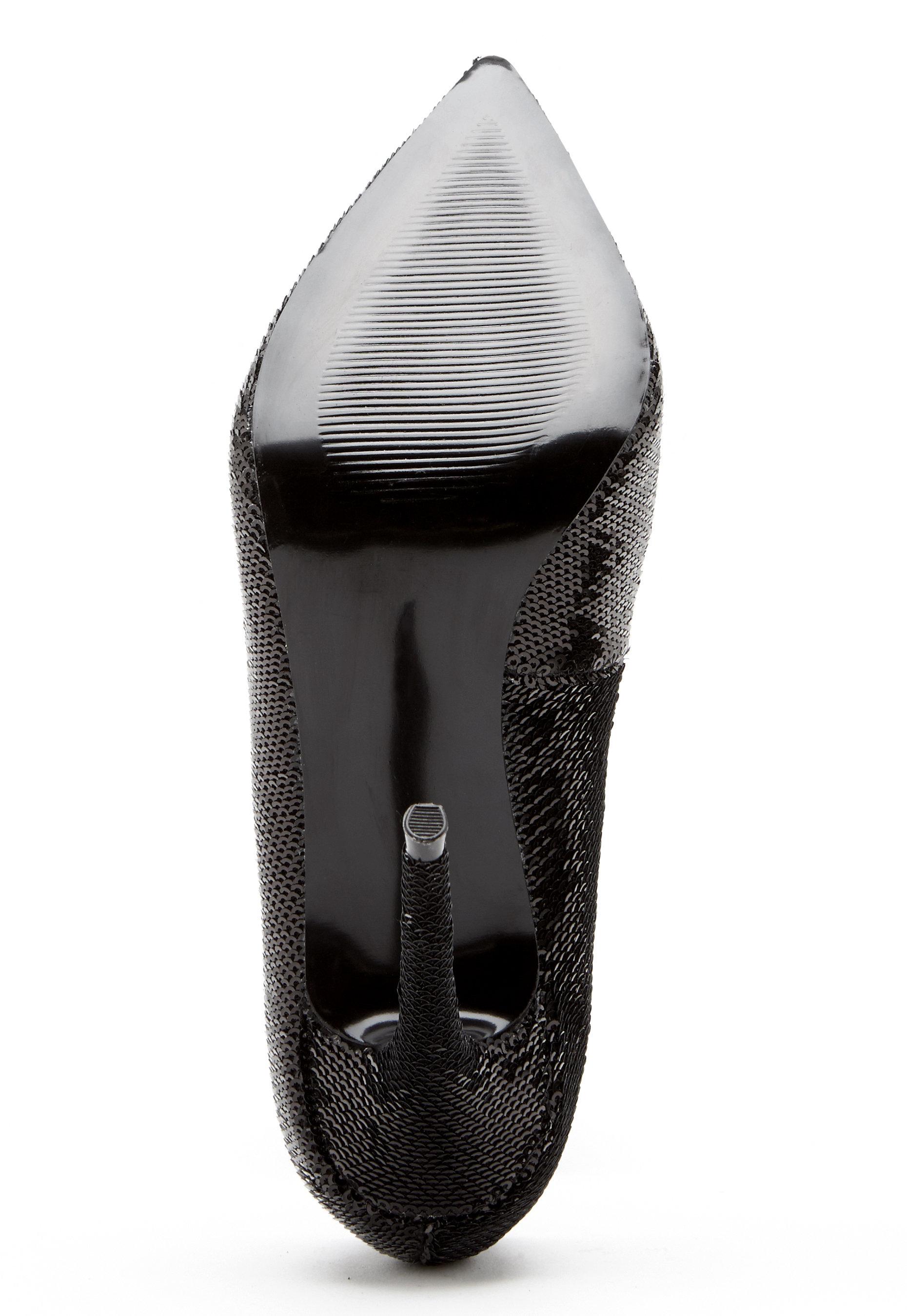 bd31c772896 Steve Madden Daisie Pump 174 Black Sequins - Bubbleroom
