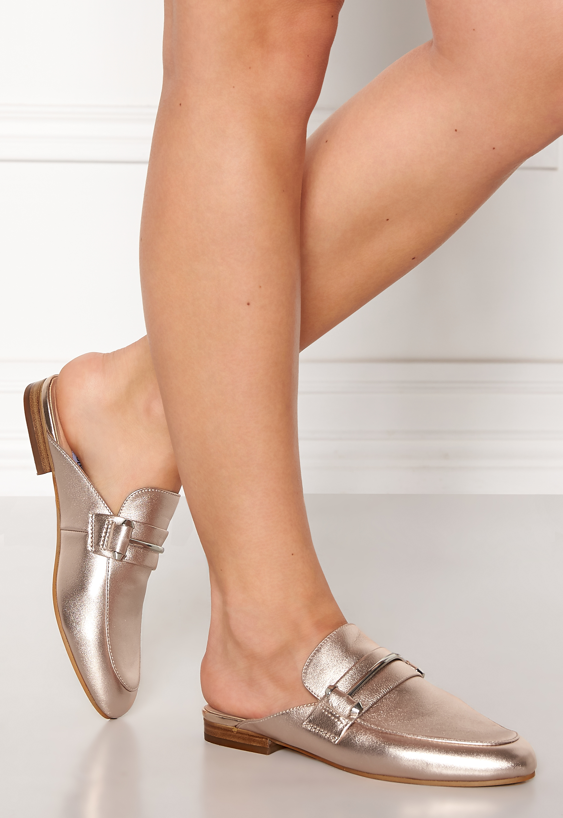 2b244e2dd33 Steve Madden Kera Mule Leather Shoes Rose Gold - Bubbleroom