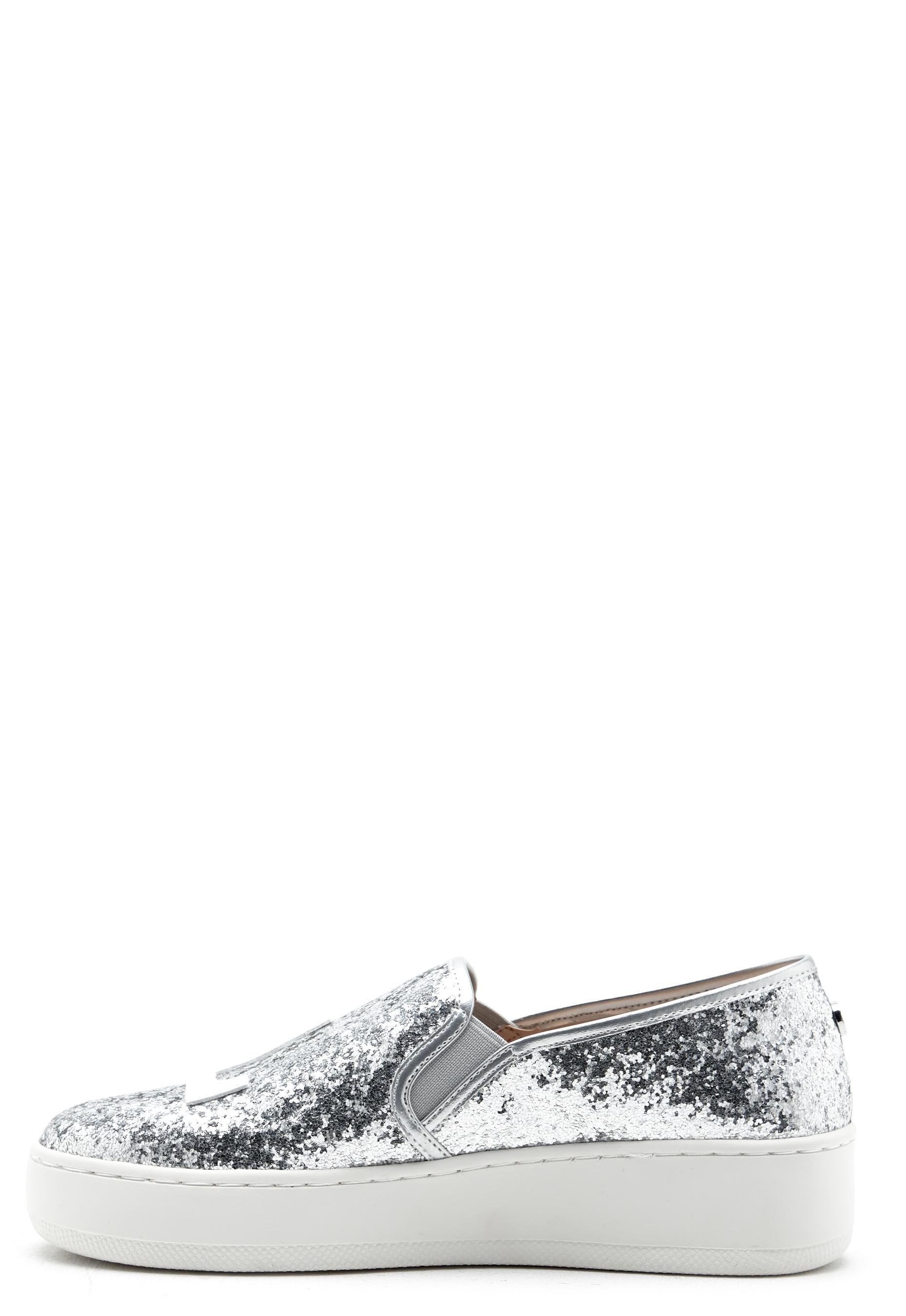 Steve Madden LA Slip-on Silver Glitter