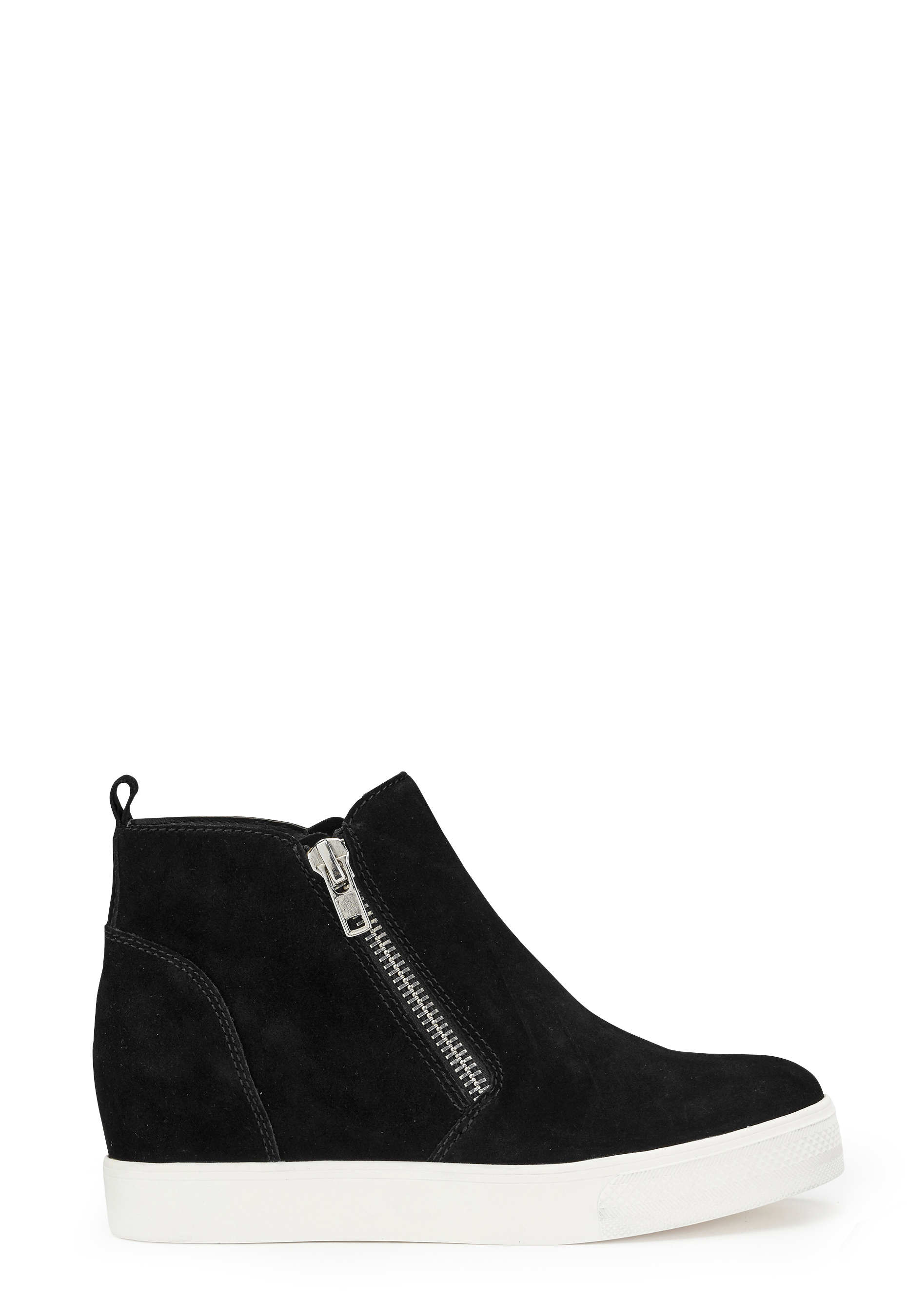 a493042a8dc Steve Madden Wedgie Sneaker Shoes Black Suede - Bubbleroom