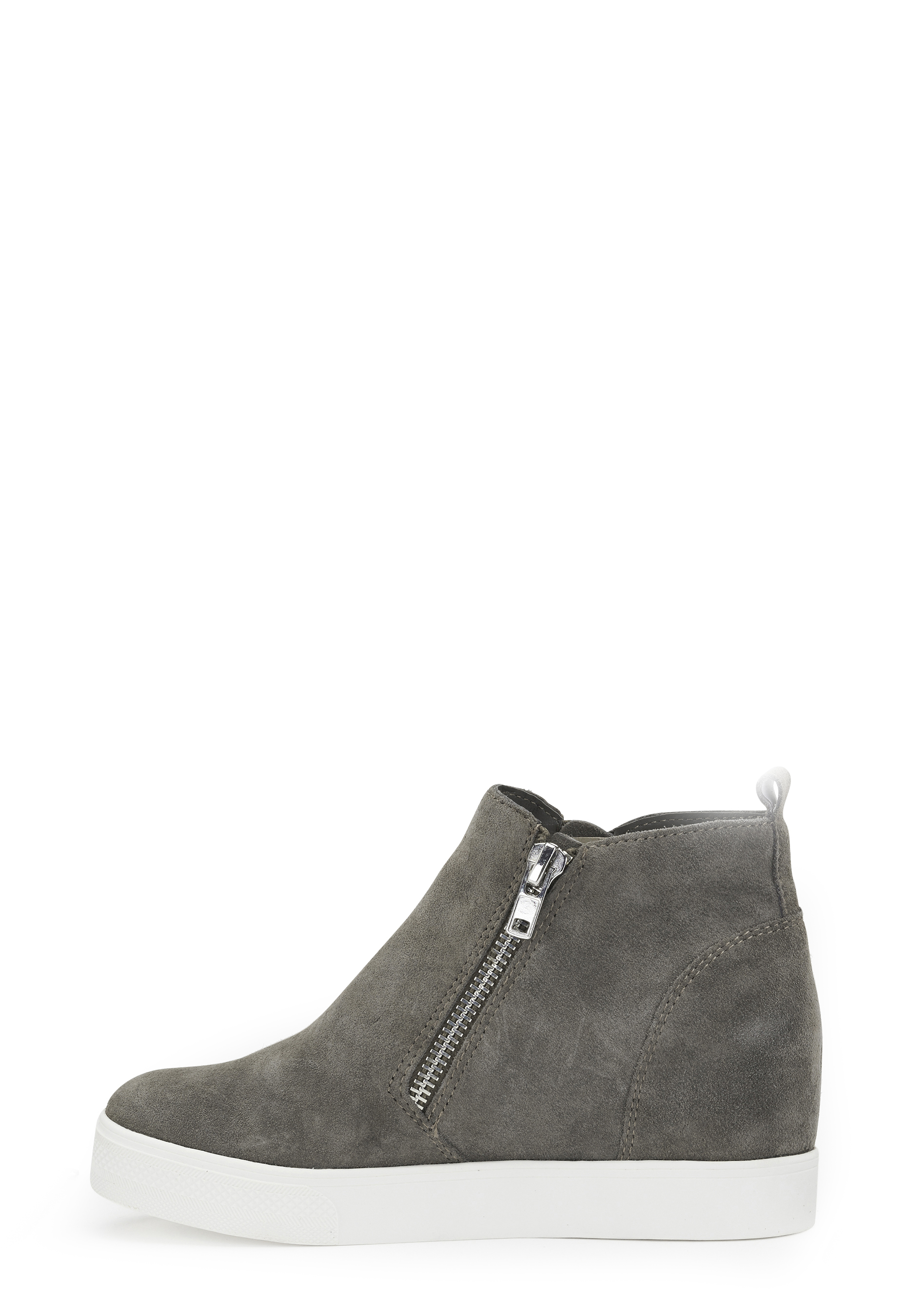 3fed41ef5d2 Steve Madden Wedgie Sneaker Shoes Grey Suede - Bubbleroom
