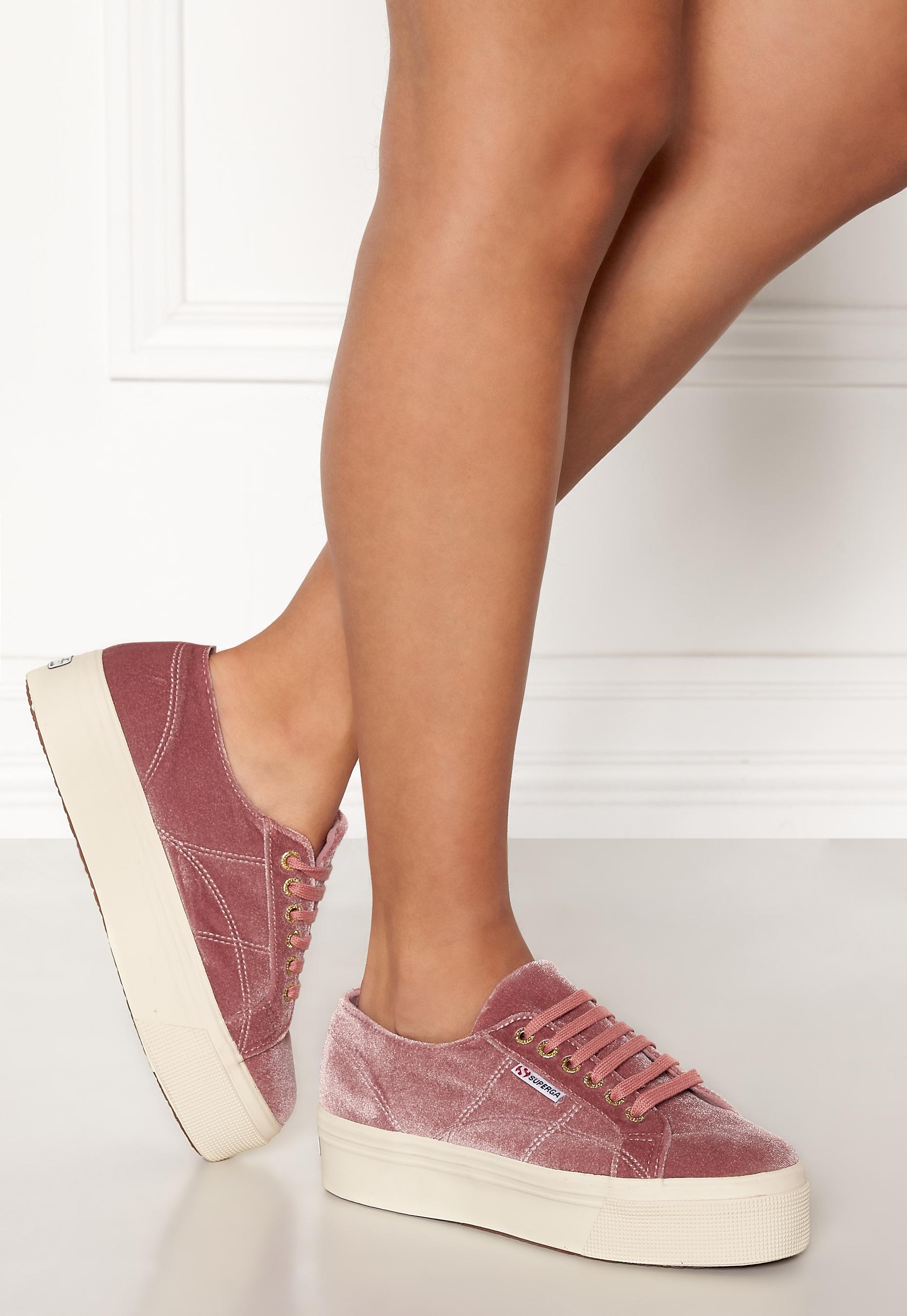 Superga Velvet Sneakers Pink Dusty Rose
