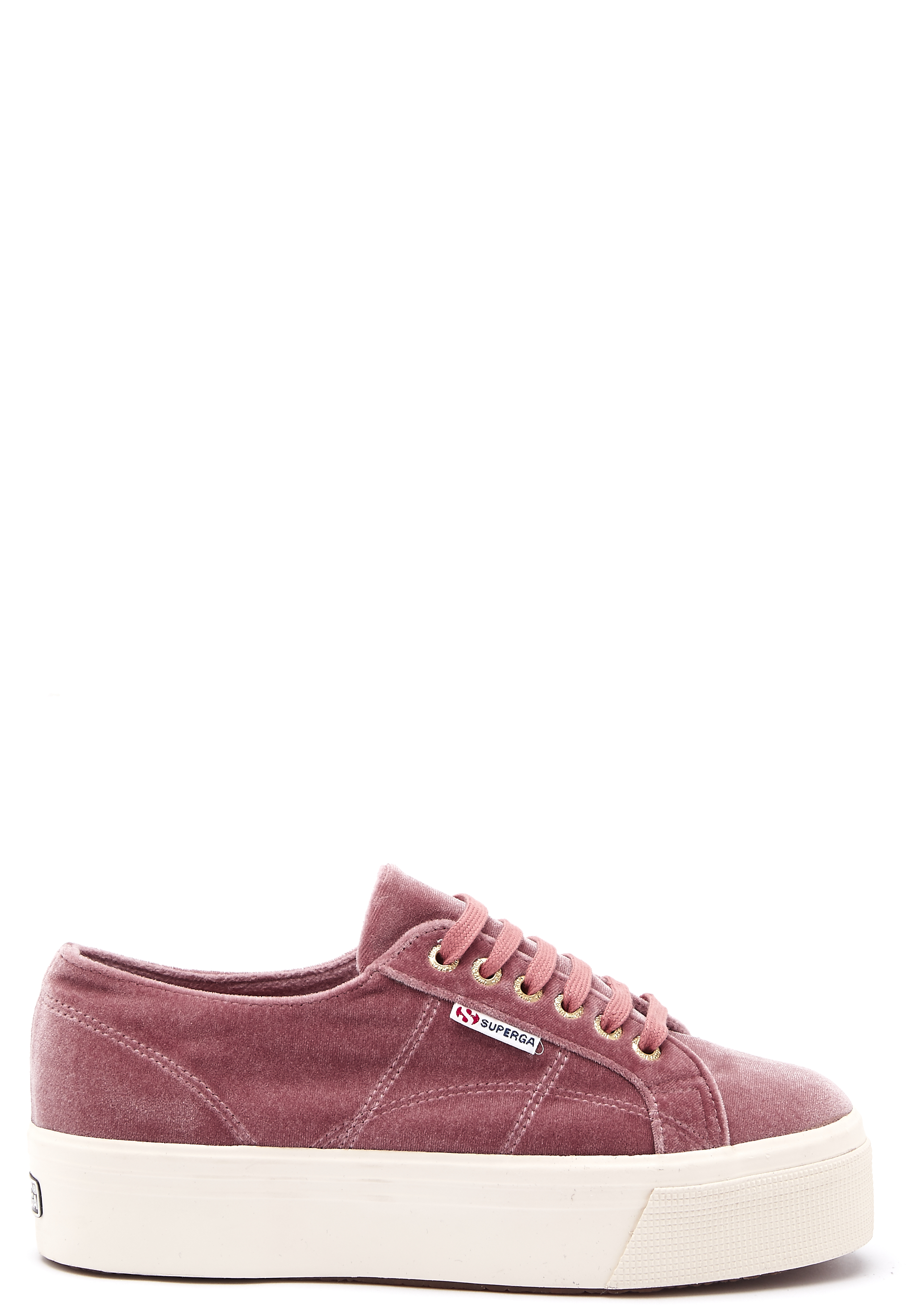 4e04cfa0b51 Superga Velvet Sneakers Pink Dusty Rose - Bubbleroom