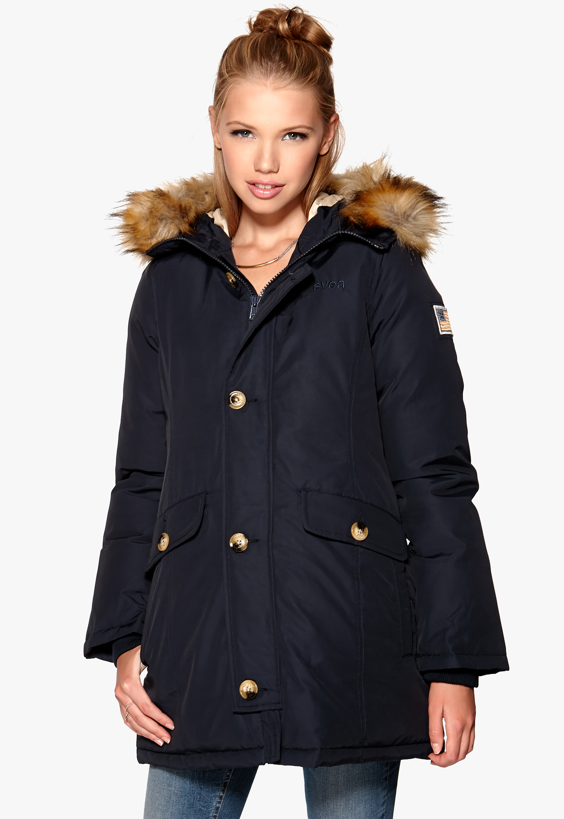 53823629 Svea Miss Smith Jacket Navy - Bubbleroom